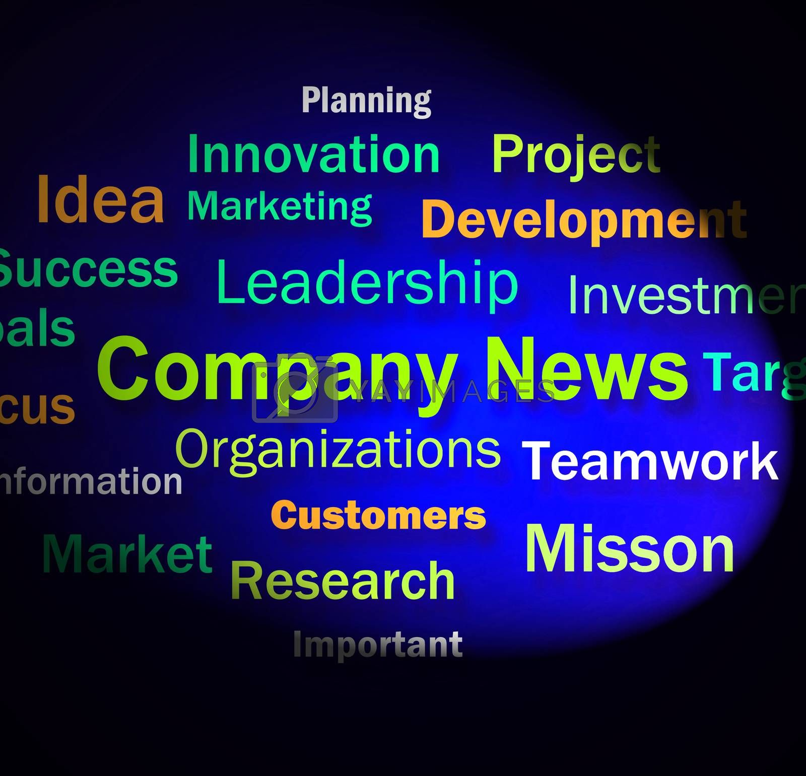 Company News Words Shows Whats New In Business by stuartmiles
