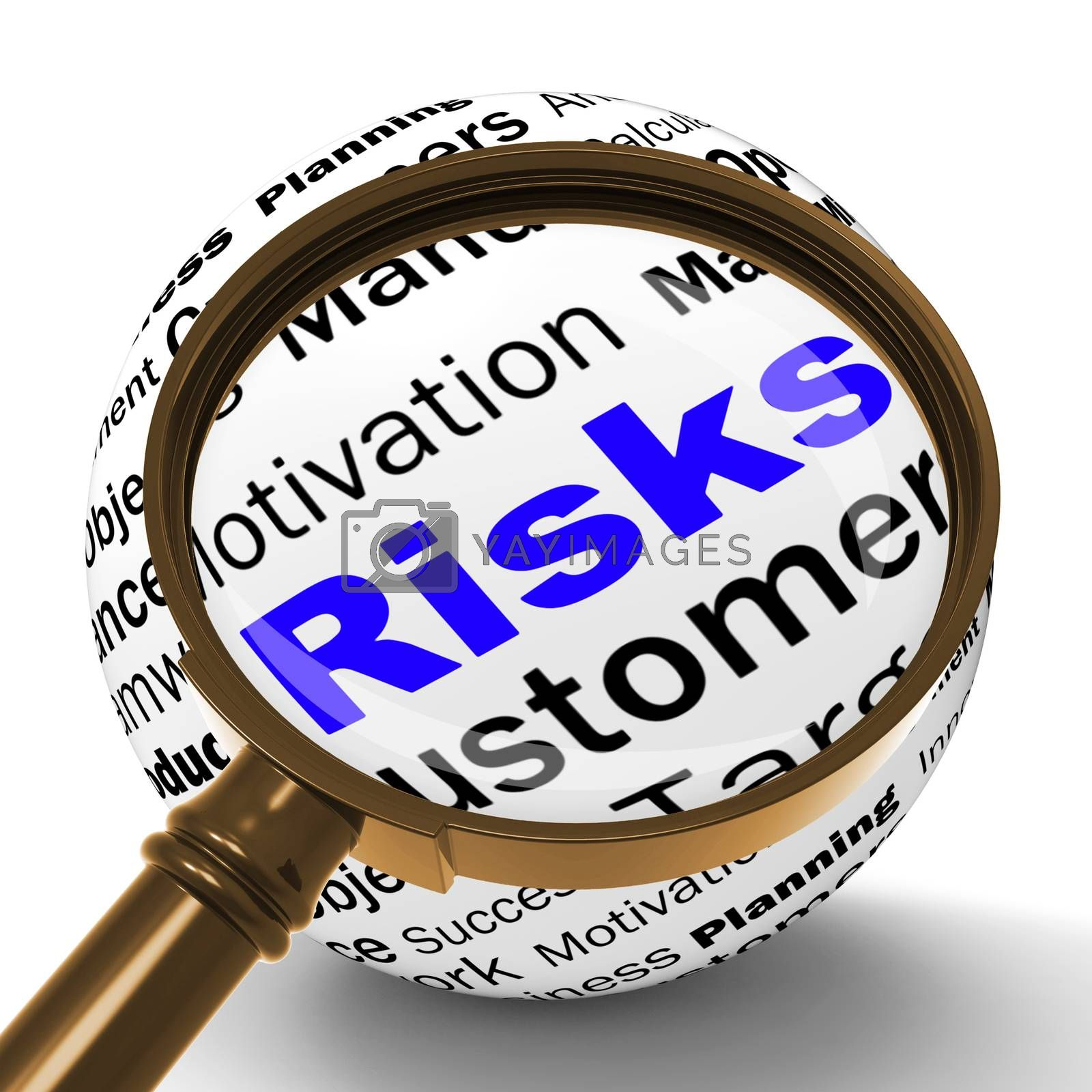 Risks Magnifier Definition Shows Insecurity And Financial Risks by stuartmiles