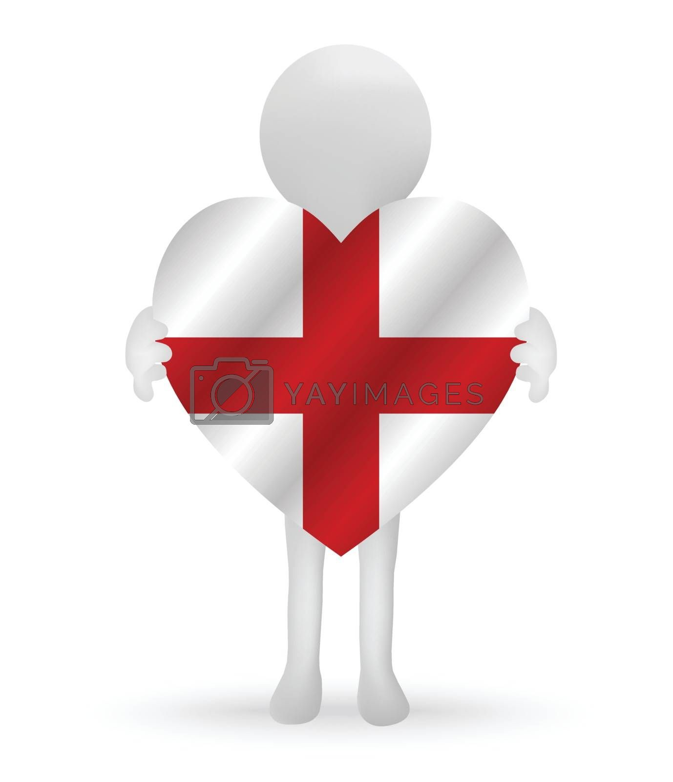3d man holding a England flag by Istanbul2009