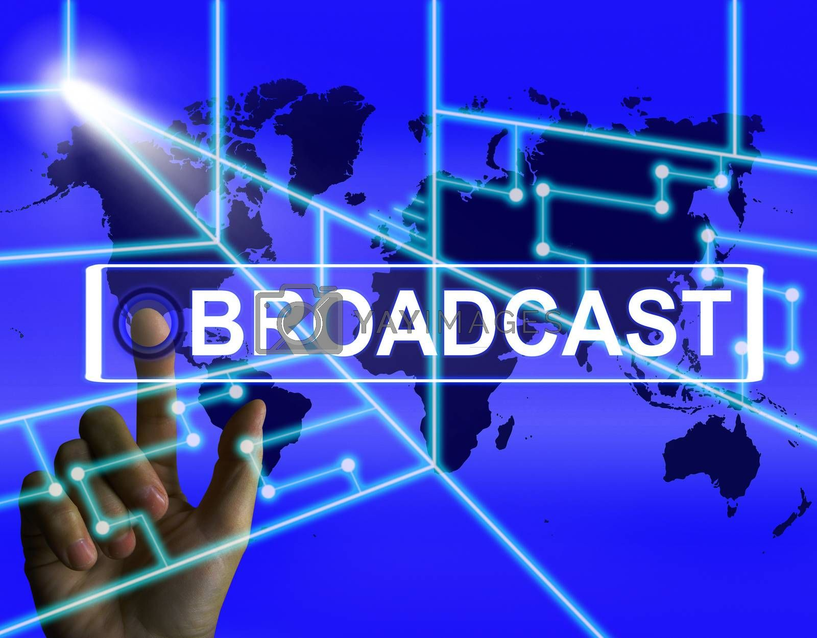 Broadcast Screen Shows International Broadcasting and Transmissi by stuartmiles