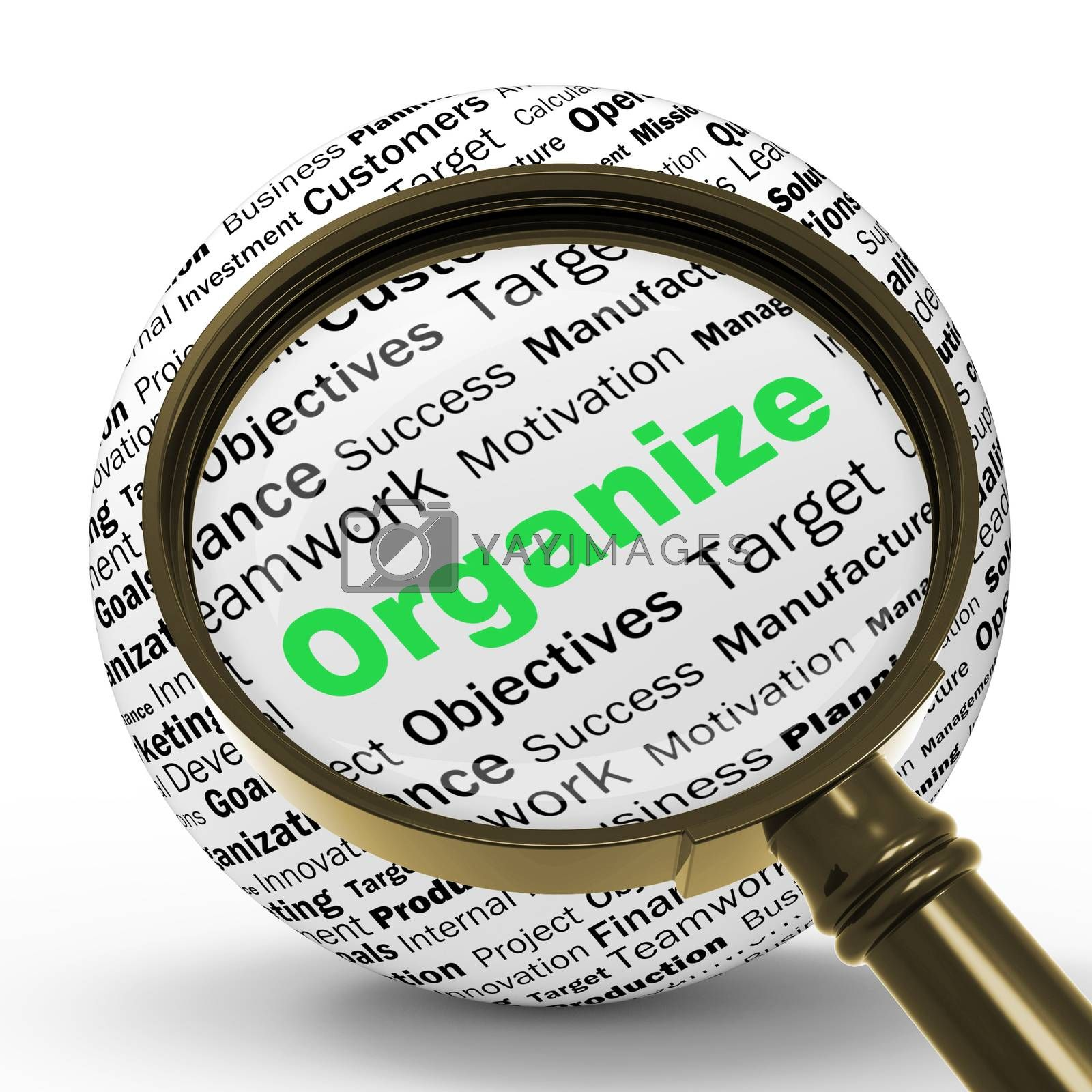 Organize Magnifier Definition Shows Structured Files Or Manageme by stuartmiles