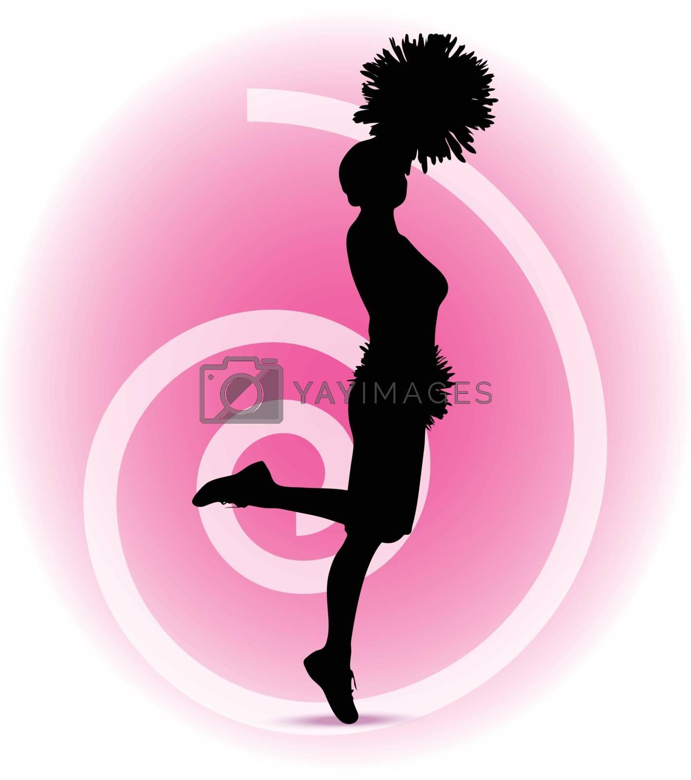 funky cheerleader silhouette by Istanbul2009