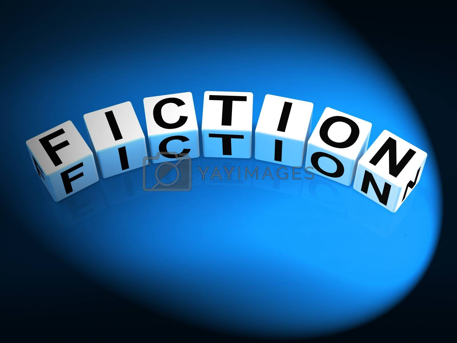 Fiction Dice Show Fictional Tale Narrative or Novel by stuartmiles