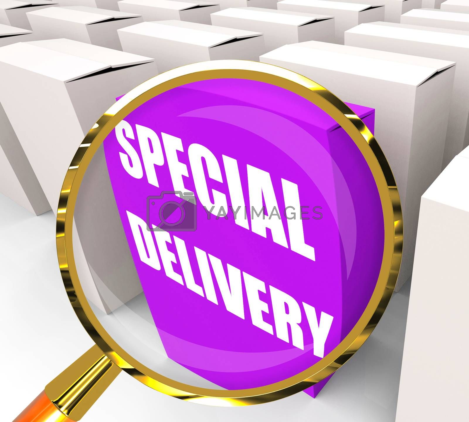 Special Delivery Packet Shows Secure and Important Shipping by stuartmiles