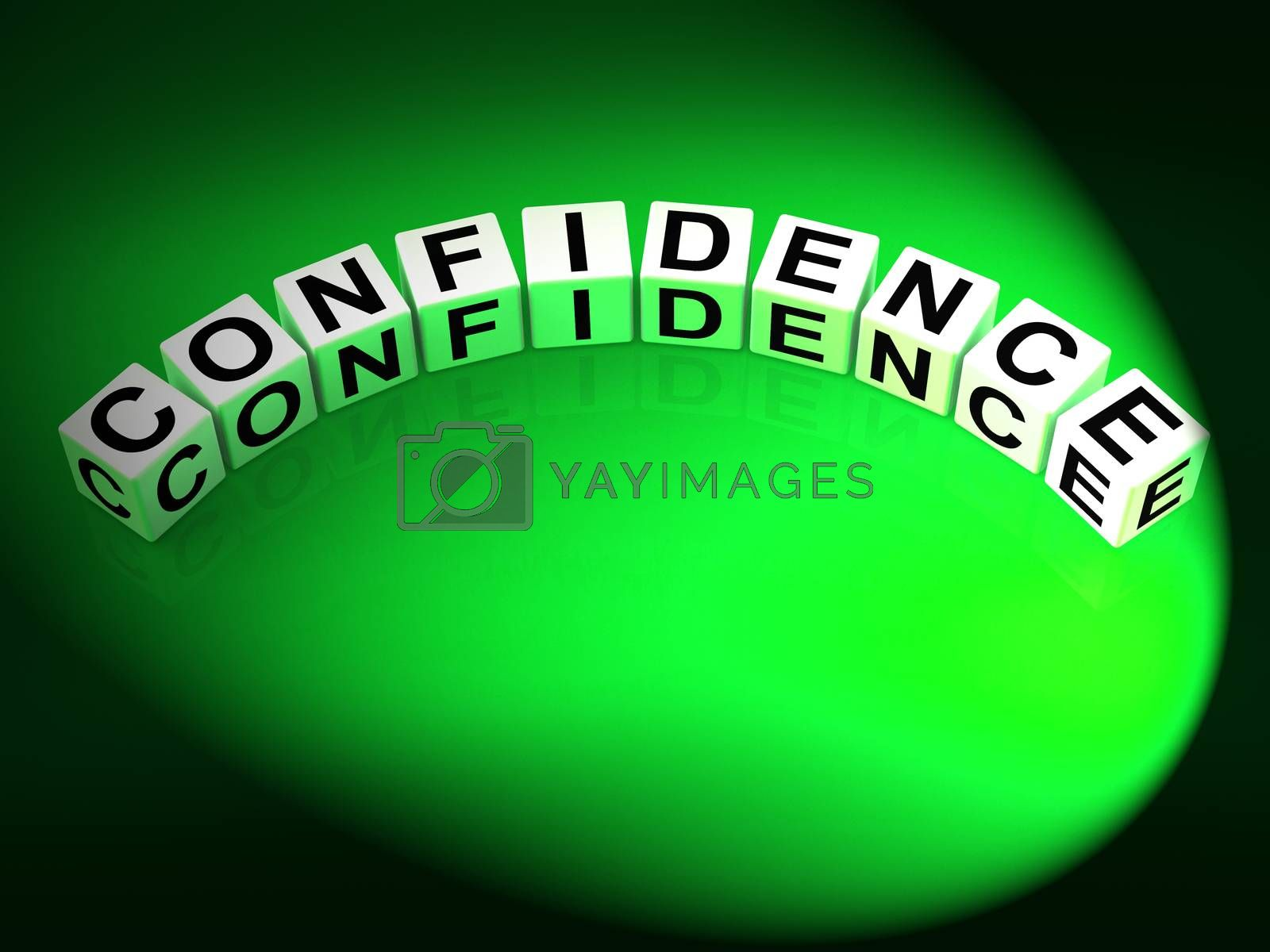 Confidence Letters Mean Believe In Yourself And Certainty by stuartmiles