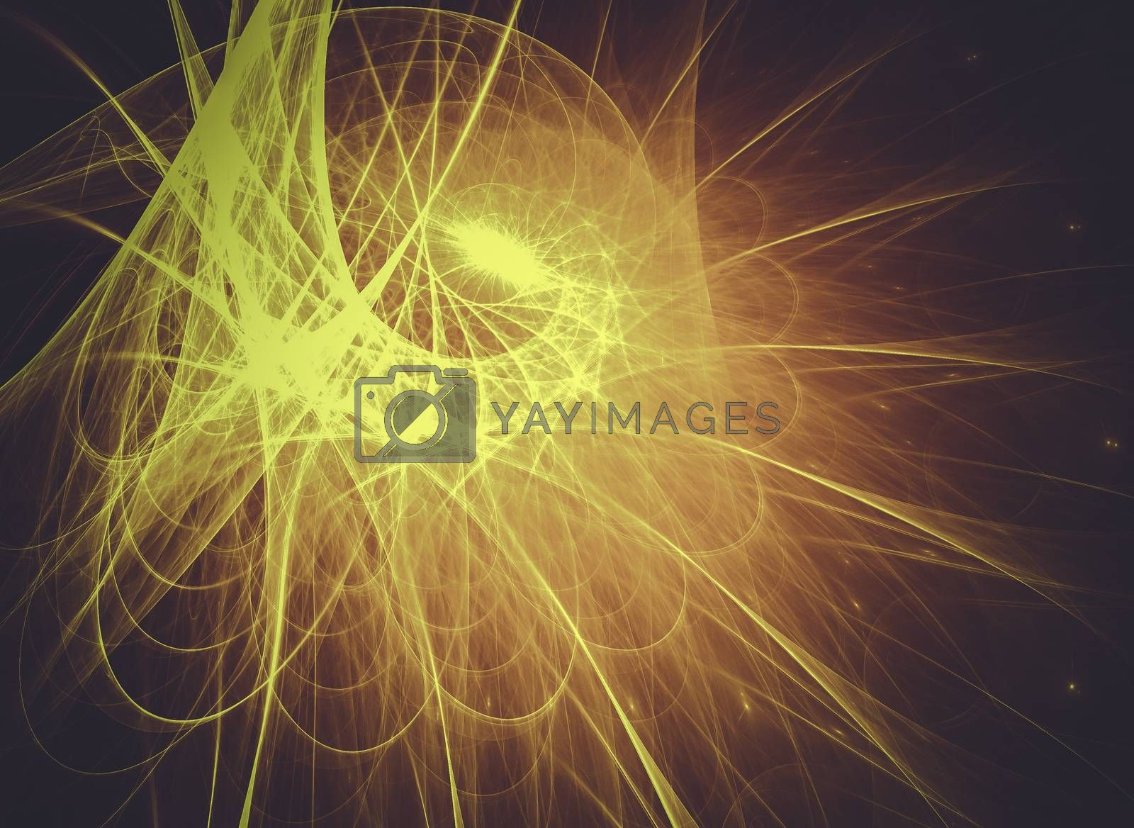 Abstract sun, Creative design background, fractal styles with co by FernandoCortes