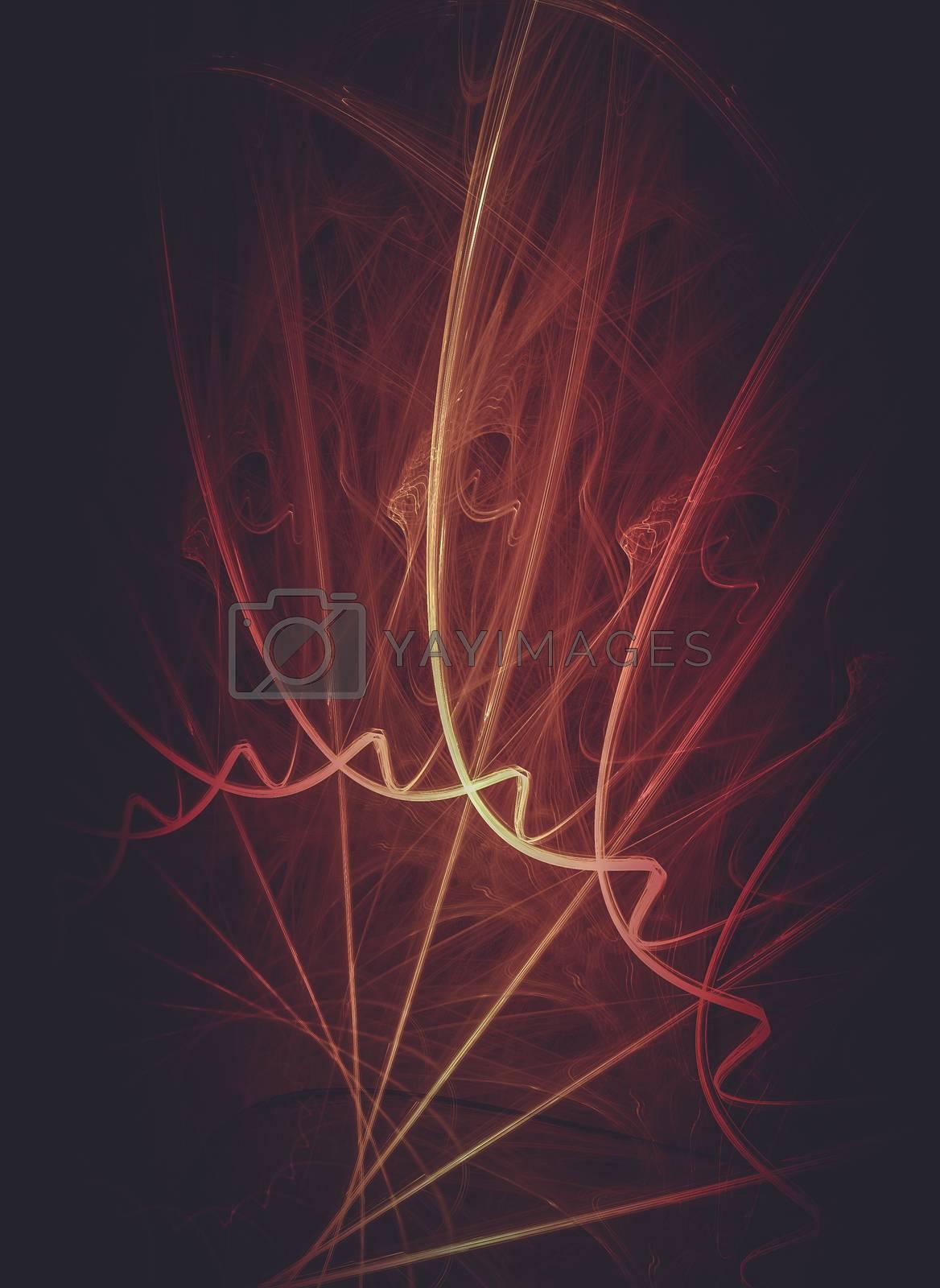 Creative design background, fractal styles with color design  by FernandoCortes