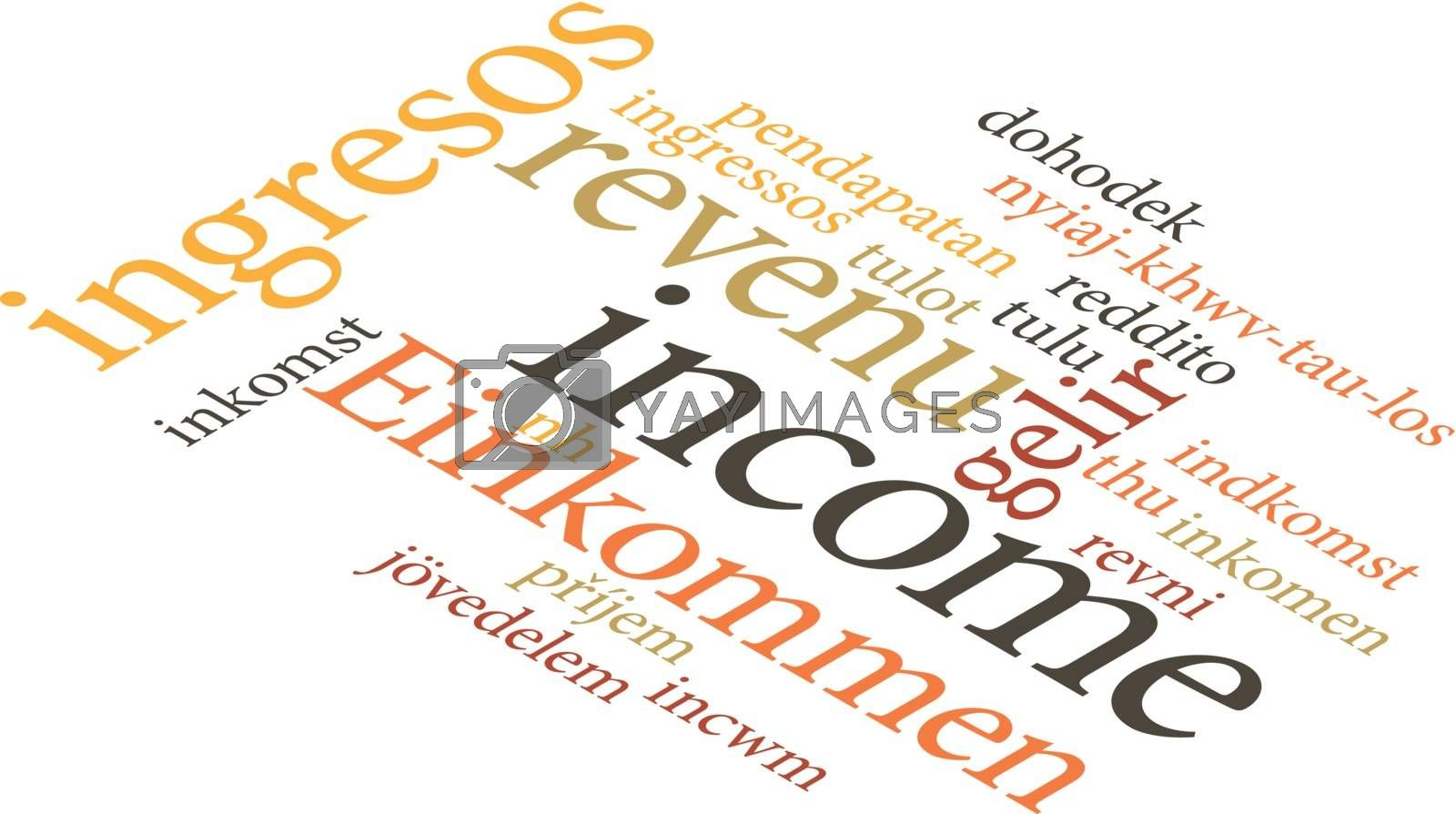 illustration of the word income in wordclouds by Istanbul2009