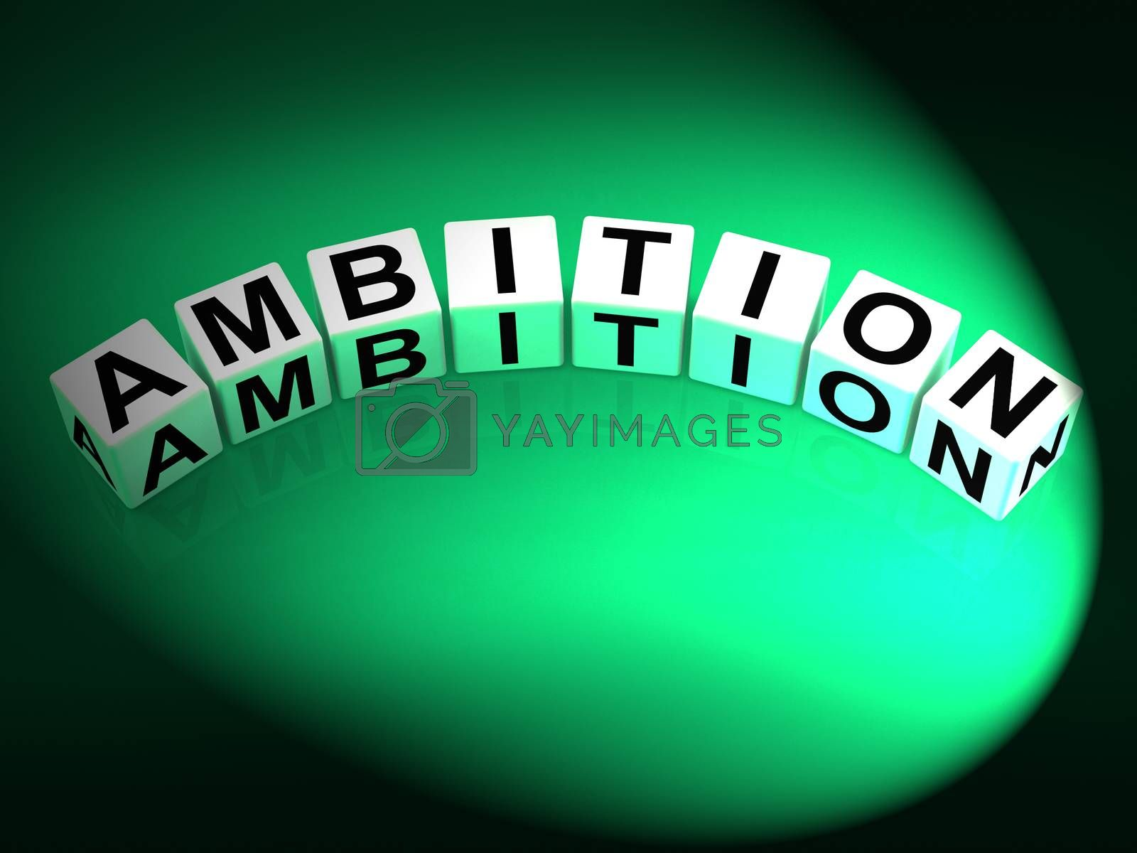 Ambition Dice Show Targets Ambitions and Aspiration by stuartmiles