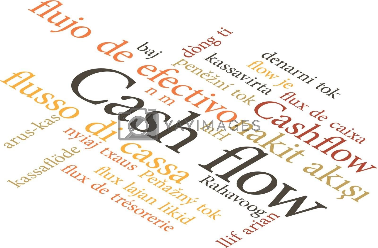 illustration of the word Cash flow in wordclouds by Istanbul2009