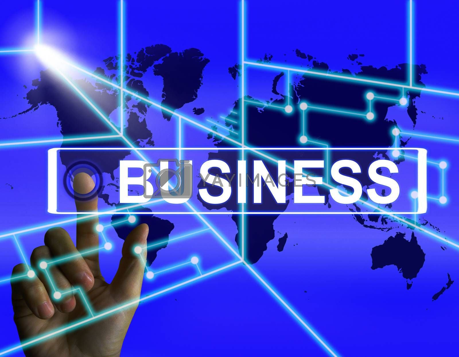 Business Screen Represents International Commerce or Internet Co by stuartmiles