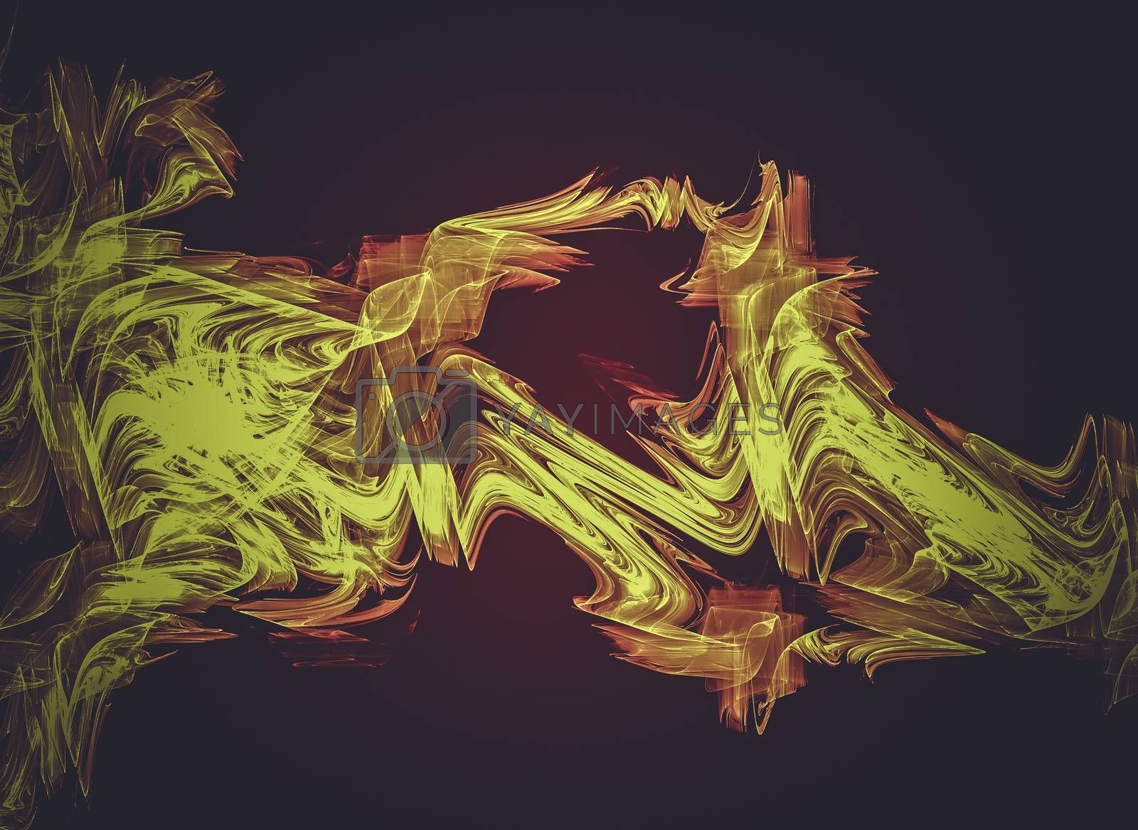 Fire , Creative design background, fractal styles with color des by FernandoCortes