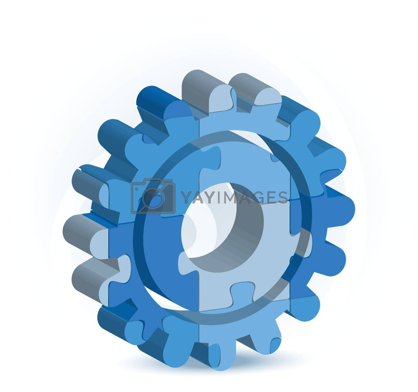 gear icon in puzzle by Istanbul2009