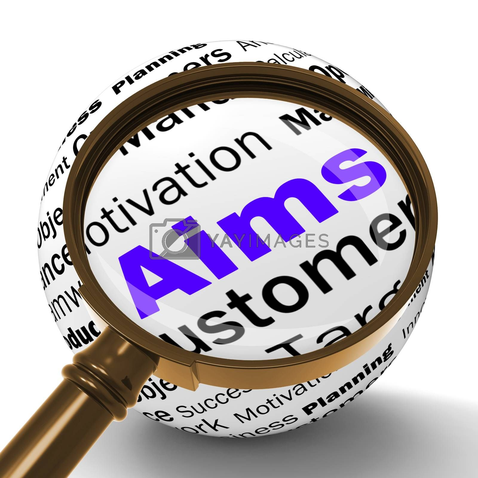 Aims Magnifier Definition Means Business Goals And Objectives by stuartmiles
