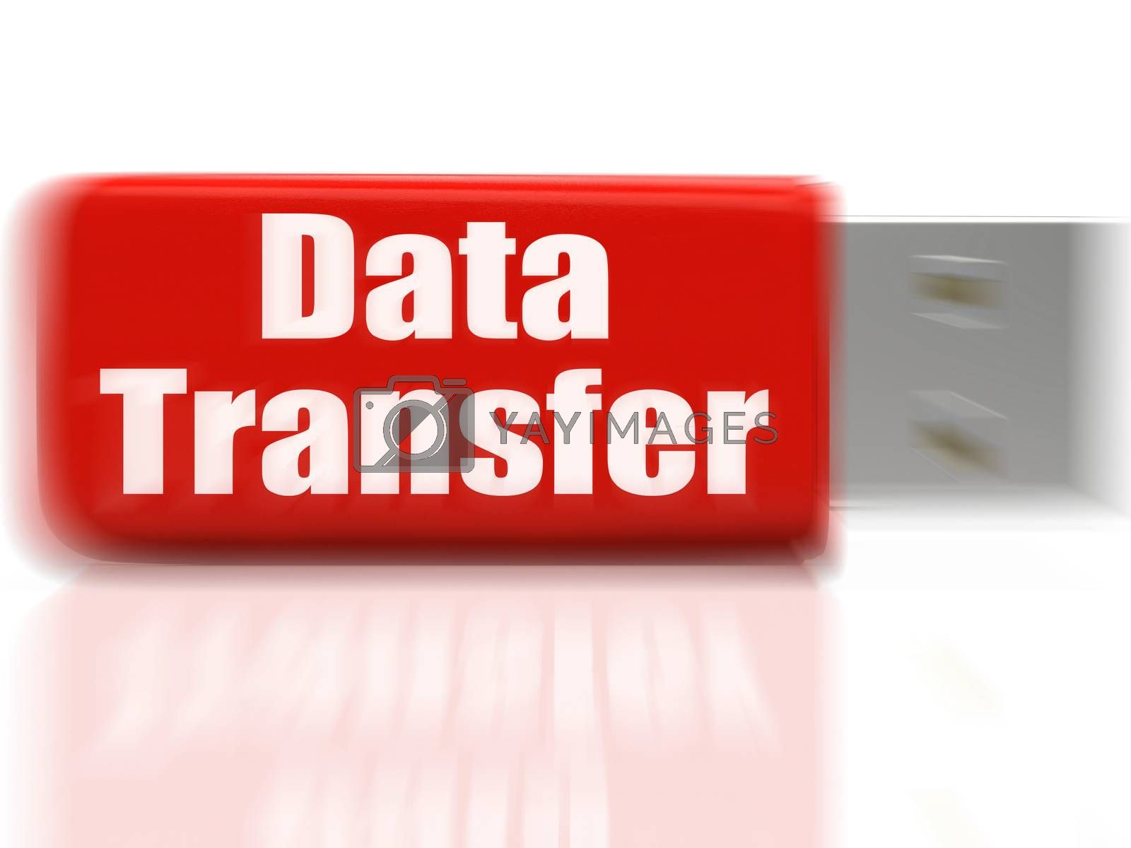 Data Transfer USB drive Shows Data Storage Or Files Transfer by stuartmiles