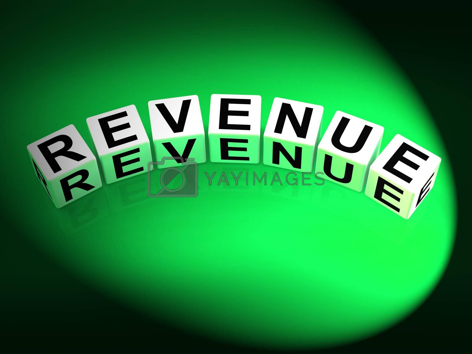 Revenue Dice Mean Finances Revenues and Proceeds by stuartmiles