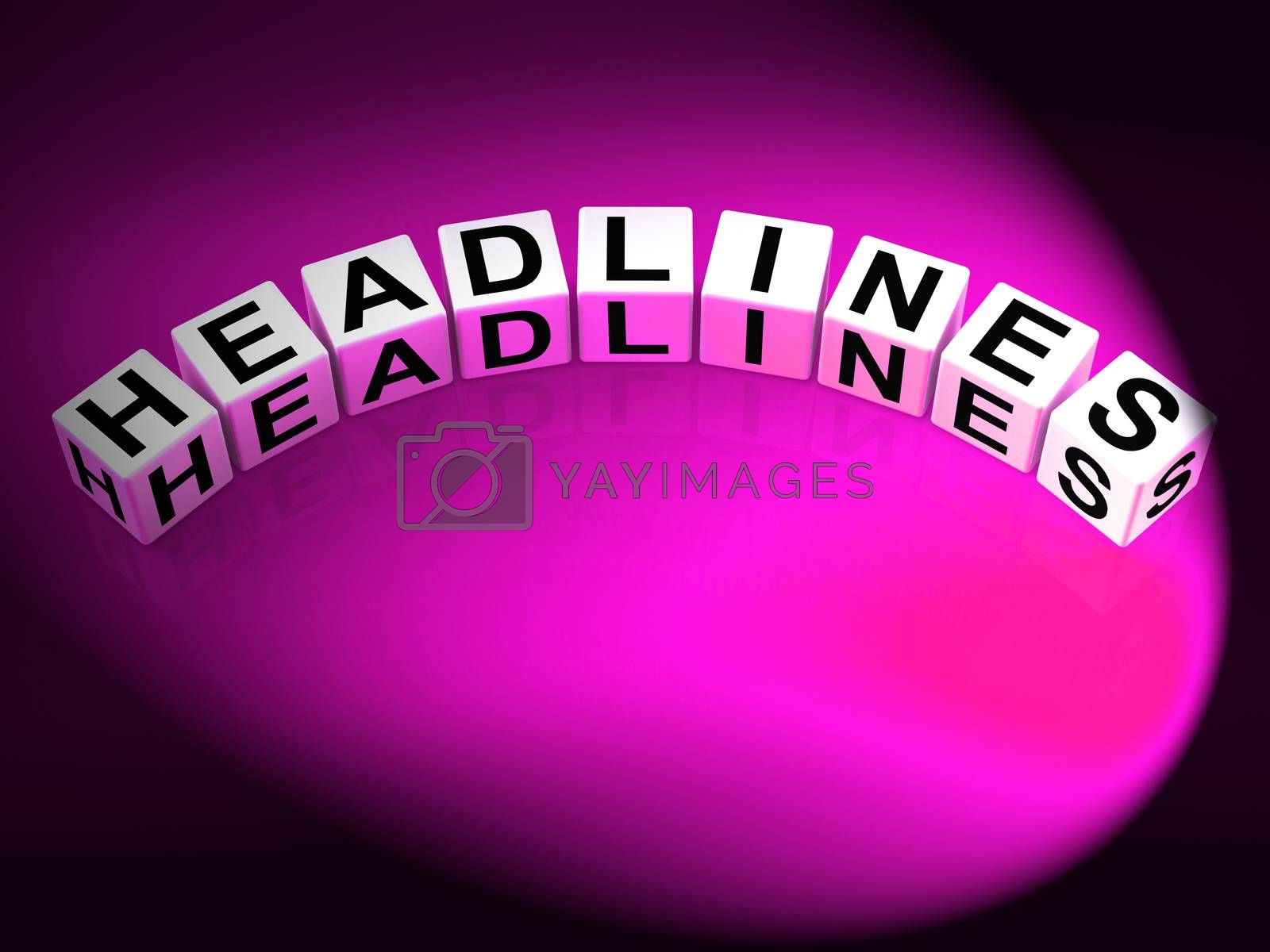 Headlines Dice Mean Feature Header and Heading by stuartmiles