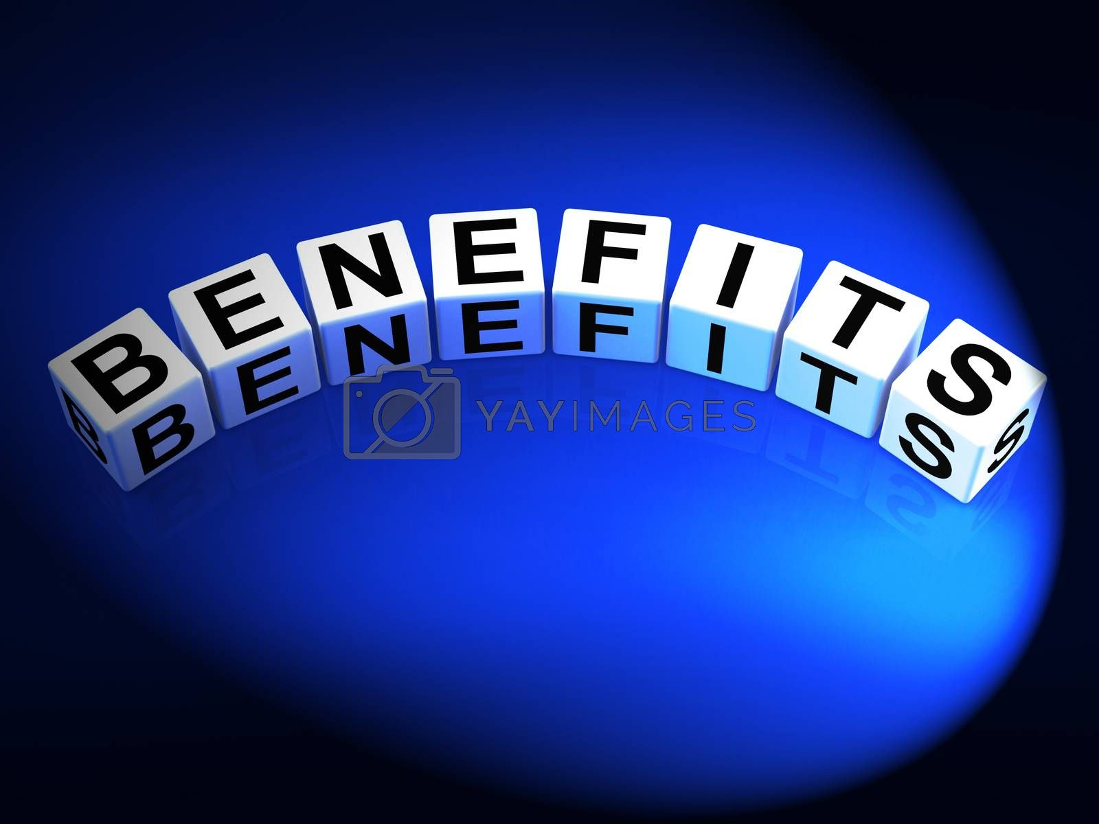 Benefits Dice Mean Perks Awards and Merits by stuartmiles