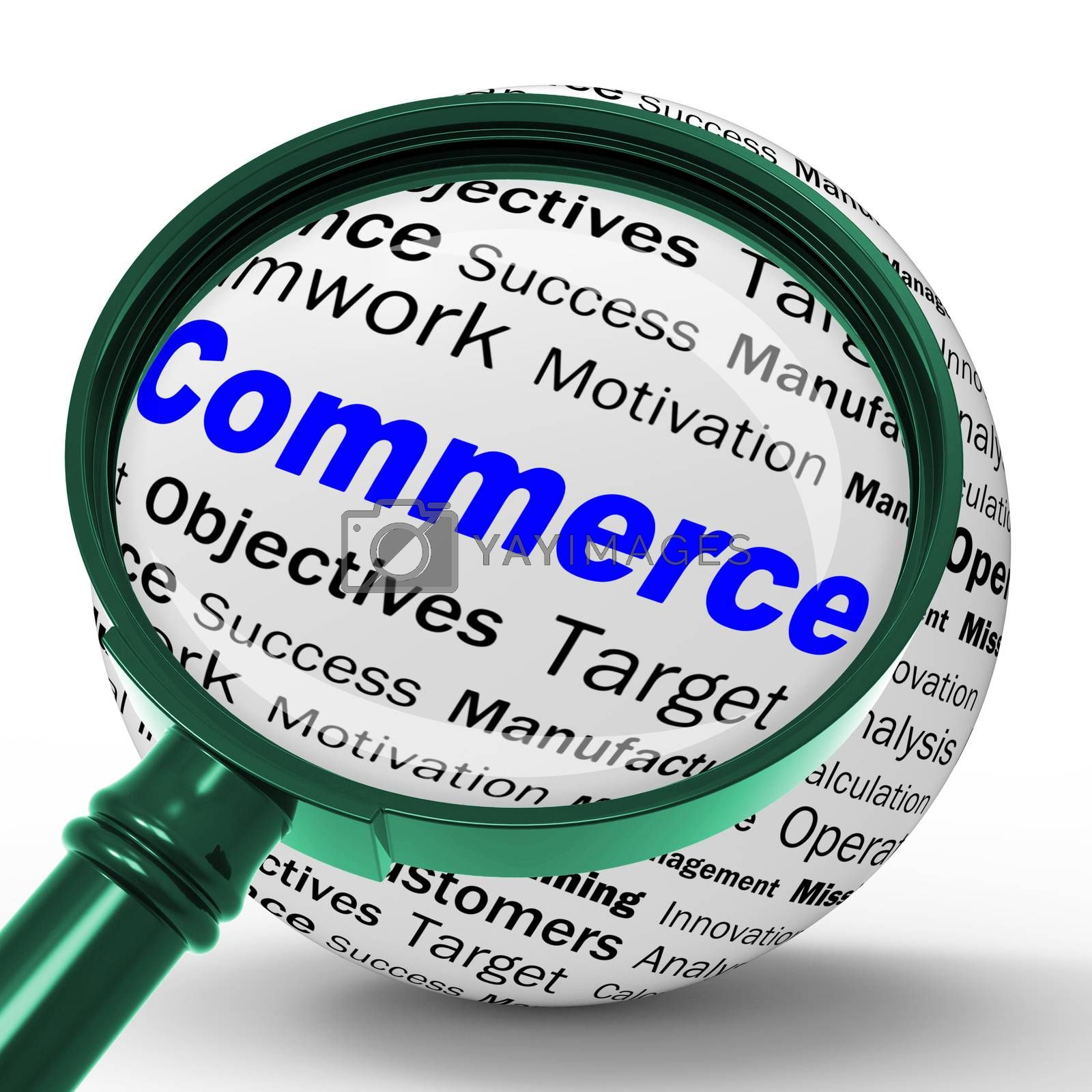Commerce Magnifier Definition Means Commercial Trade And Busines by stuartmiles