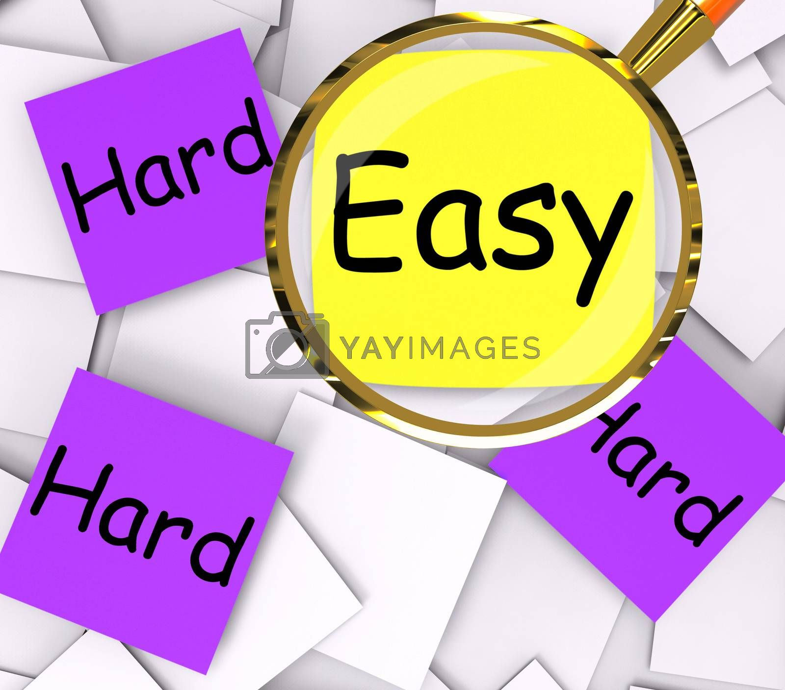 Easy Hard Post-It Papers Mean Simple Or Tough by stuartmiles