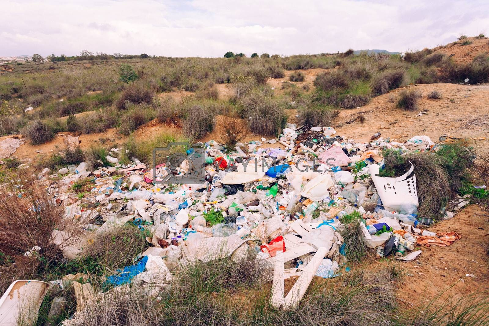 Illegal garbage disposal pollutes environment by PiLens