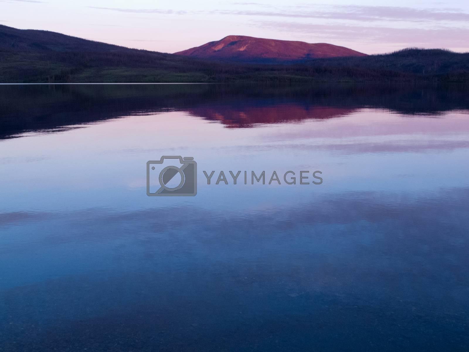 Little Salmon Lake Sunset Yukon Territory Canada by PiLens