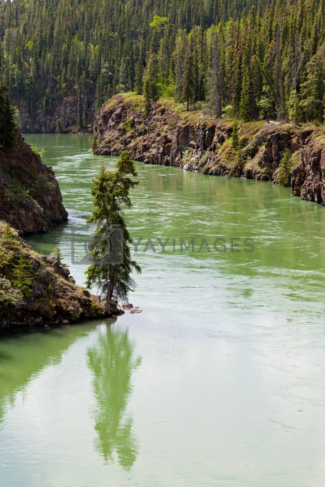 Yukon River surface Miles Canyon Whitehorse Canada by PiLens