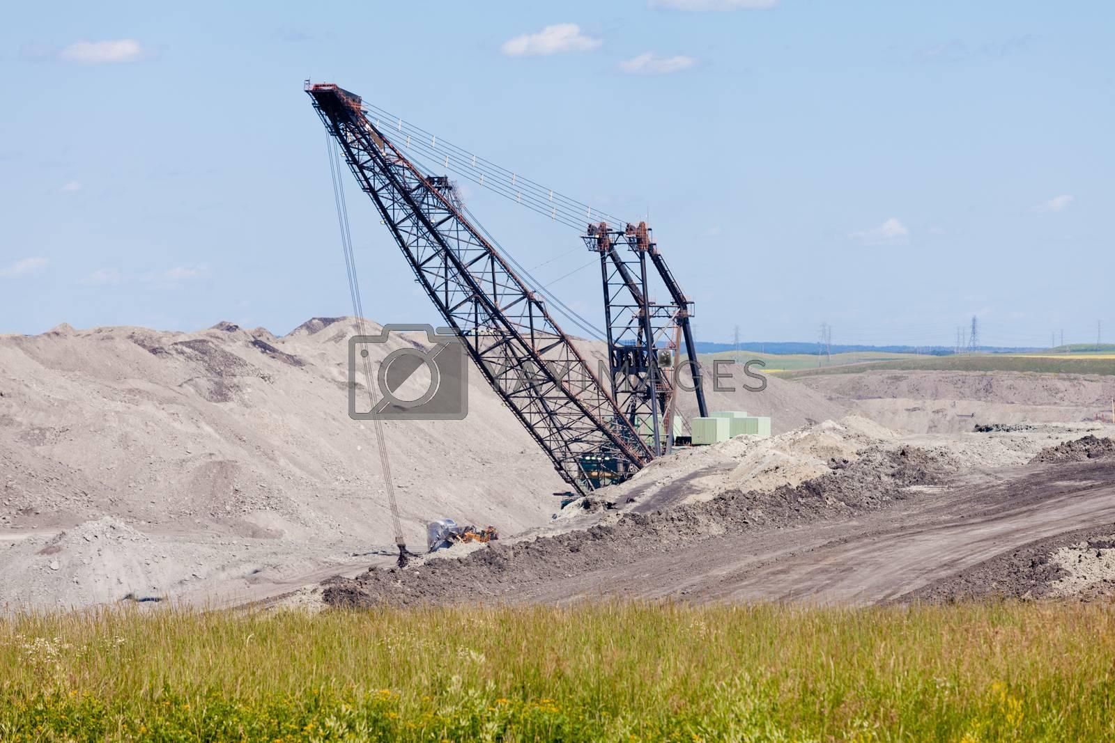 Coalmine excavator machine moonscape tailing by PiLens