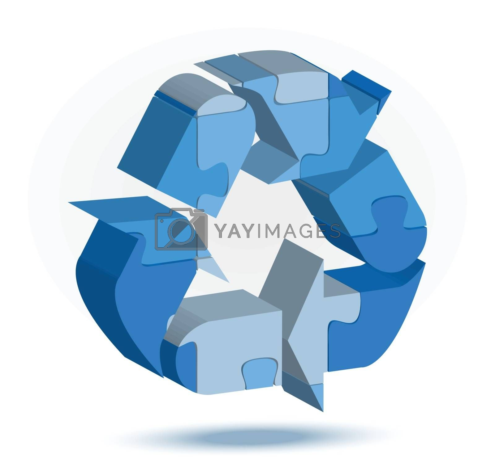 recycling facility icon in puzzle by Istanbul2009