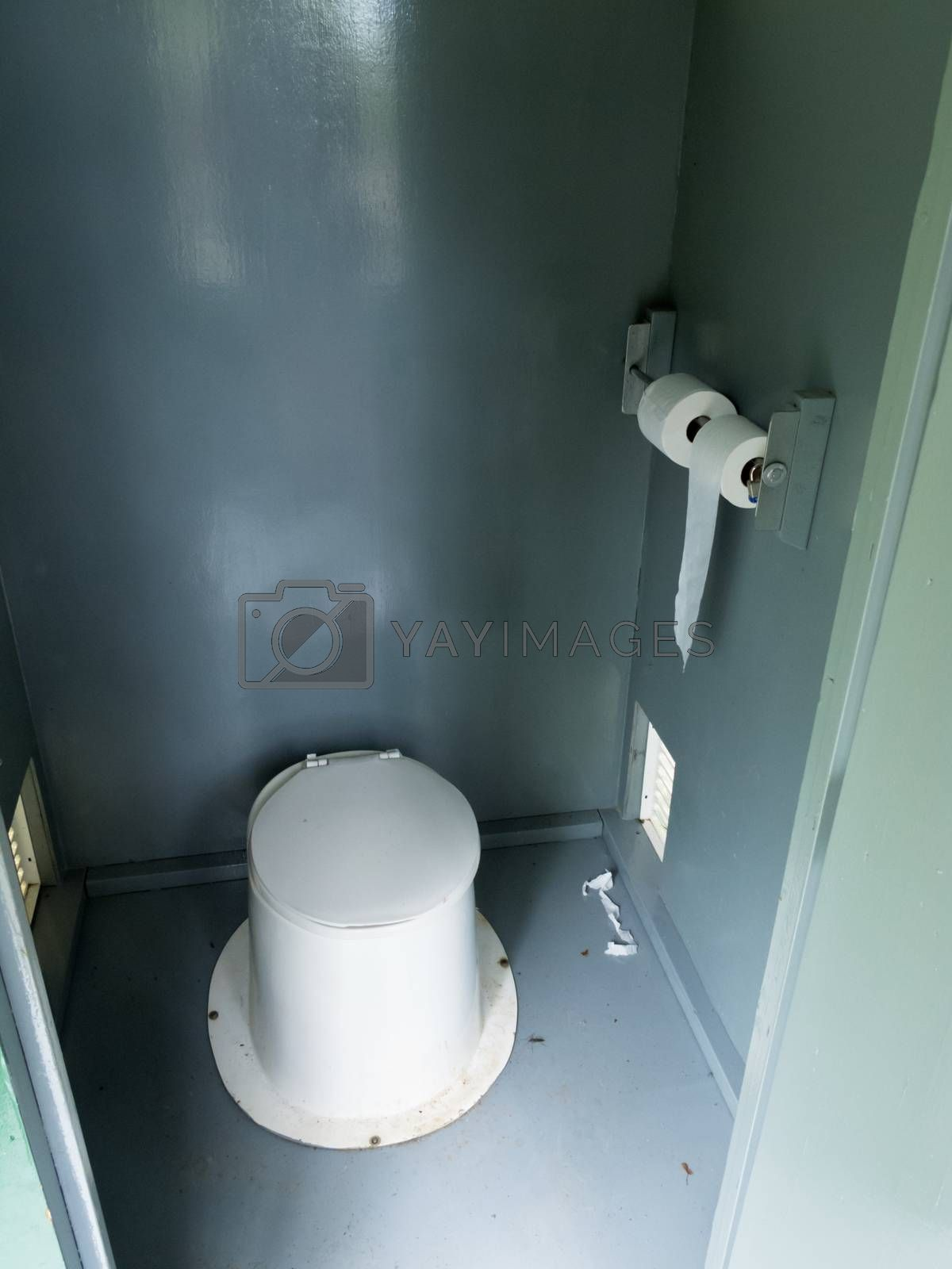 Camp ground latrine outhouse inside pit toilet by PiLens