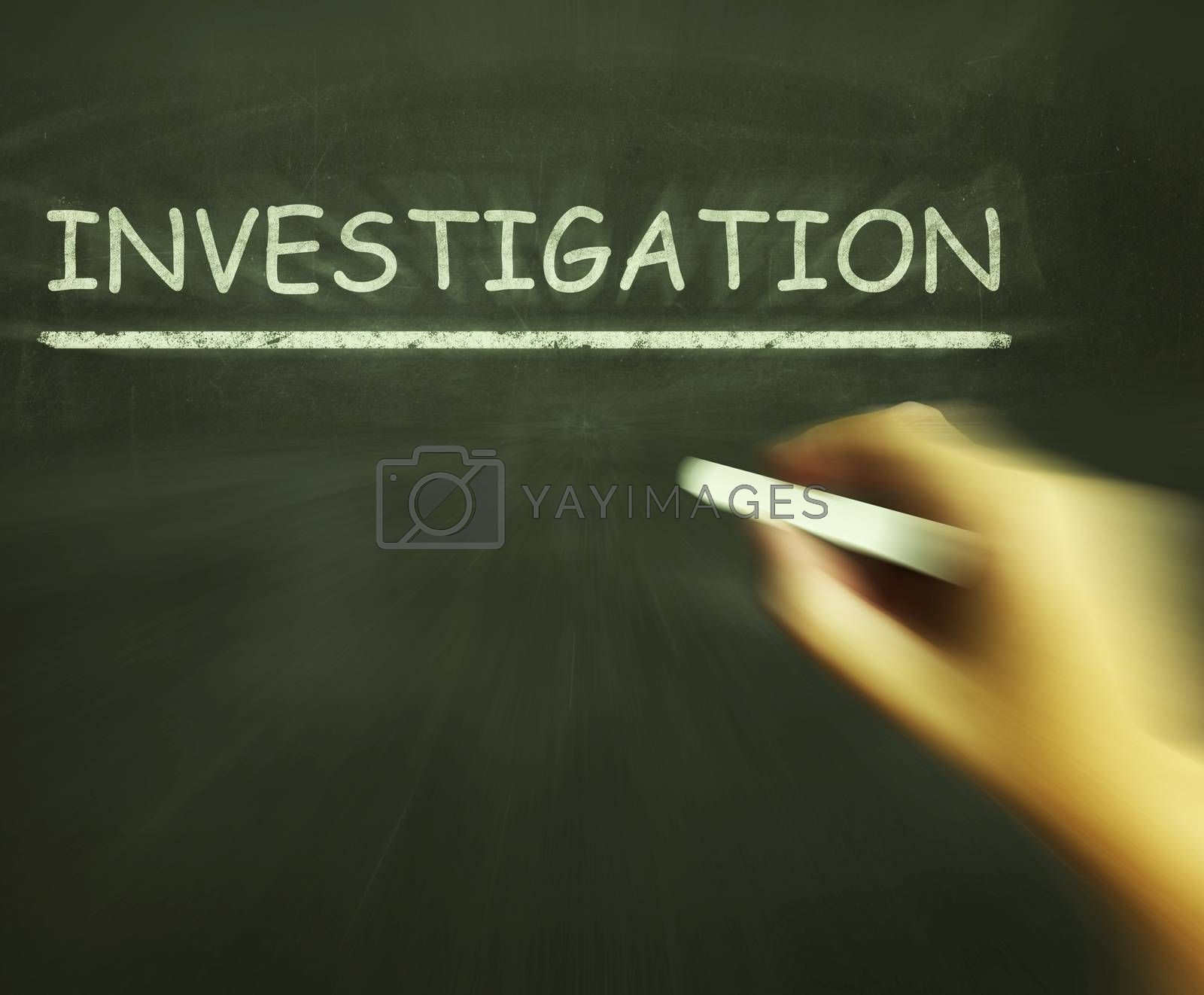 Investigation Chalk Means Inspect Analyse And Find Out by stuartmiles