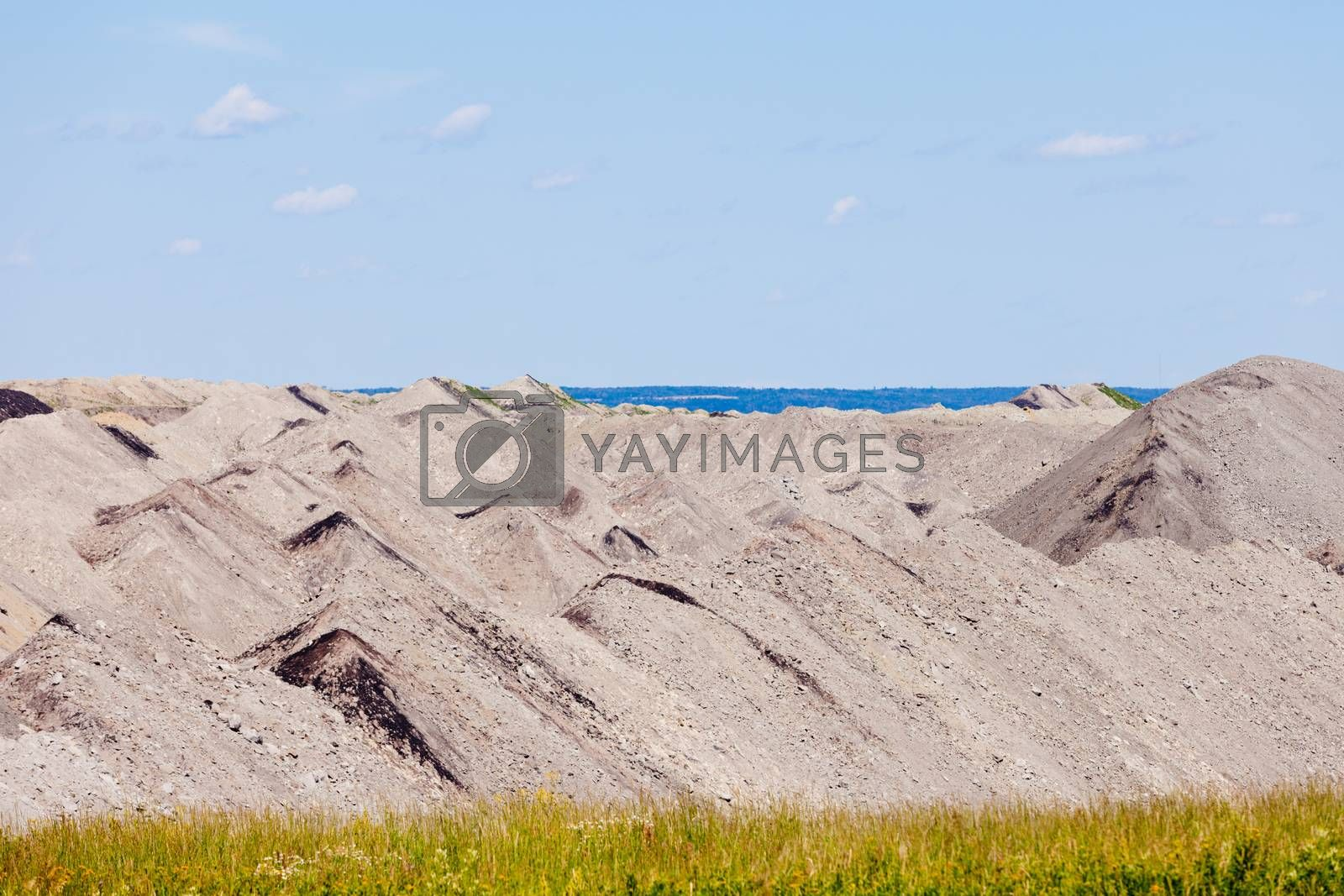 Barren coalmine tailing mining industrial abstract by PiLens