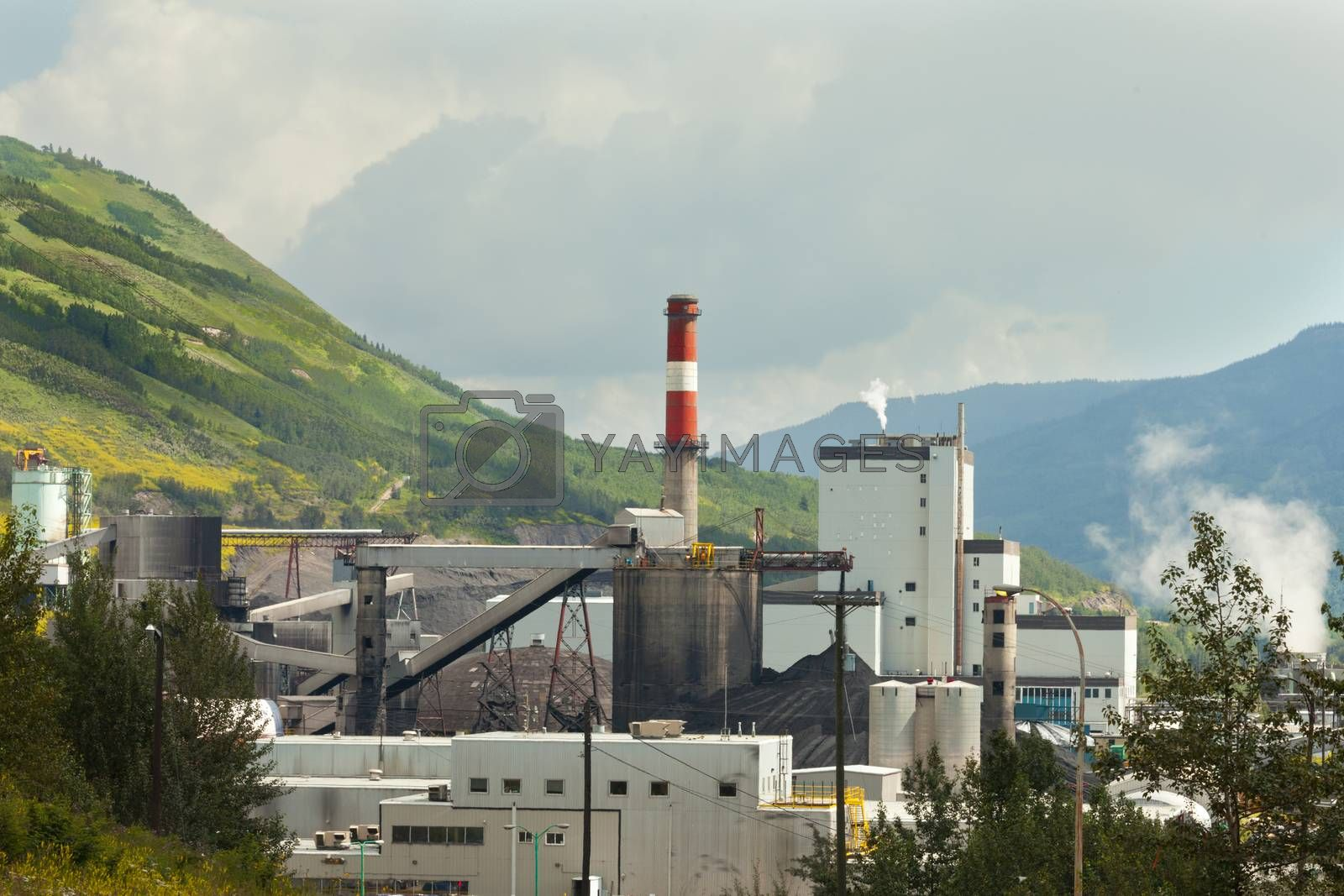Coal mine electrical power plant contrast nature by PiLens