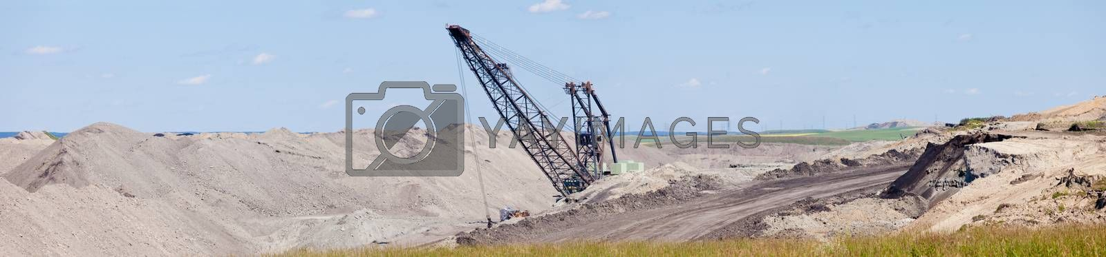 Coalmine excavator moonscape tailings panorama by PiLens