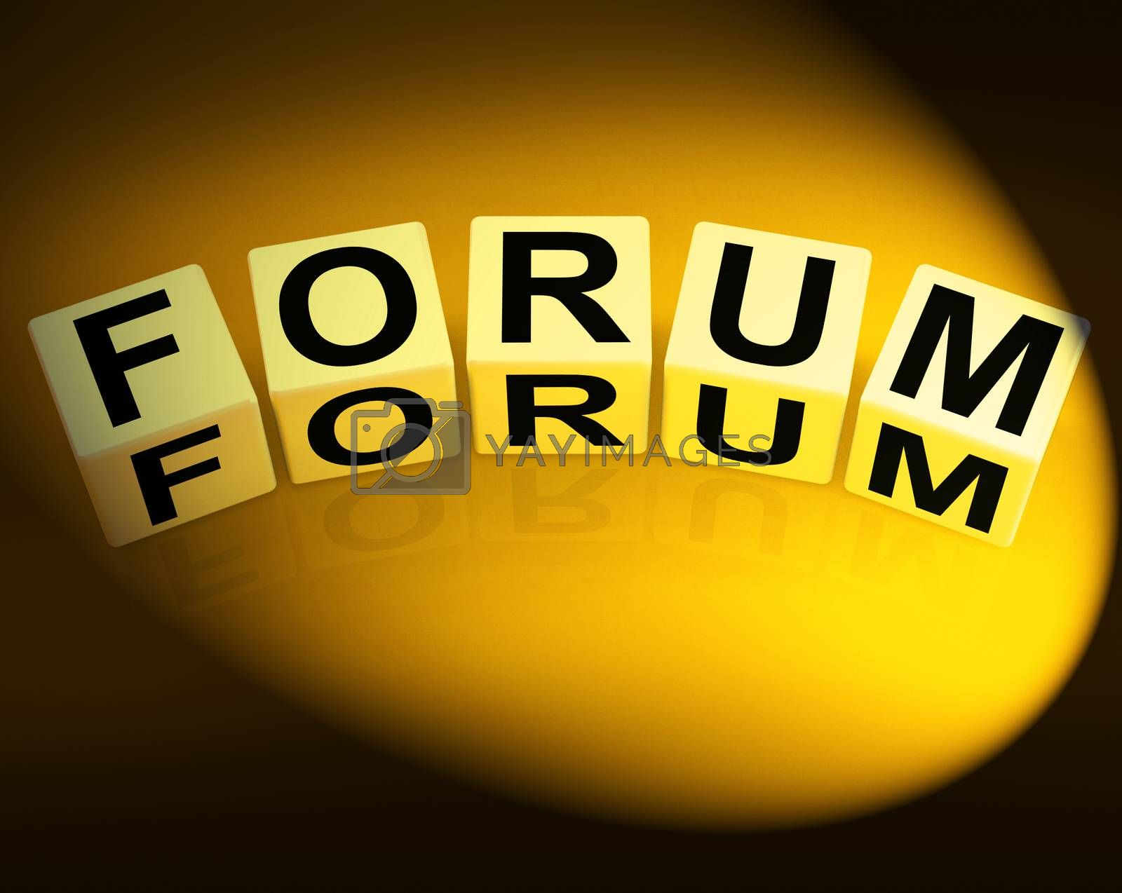 Forum Dice Show Advice or Social Media or Conference by stuartmiles