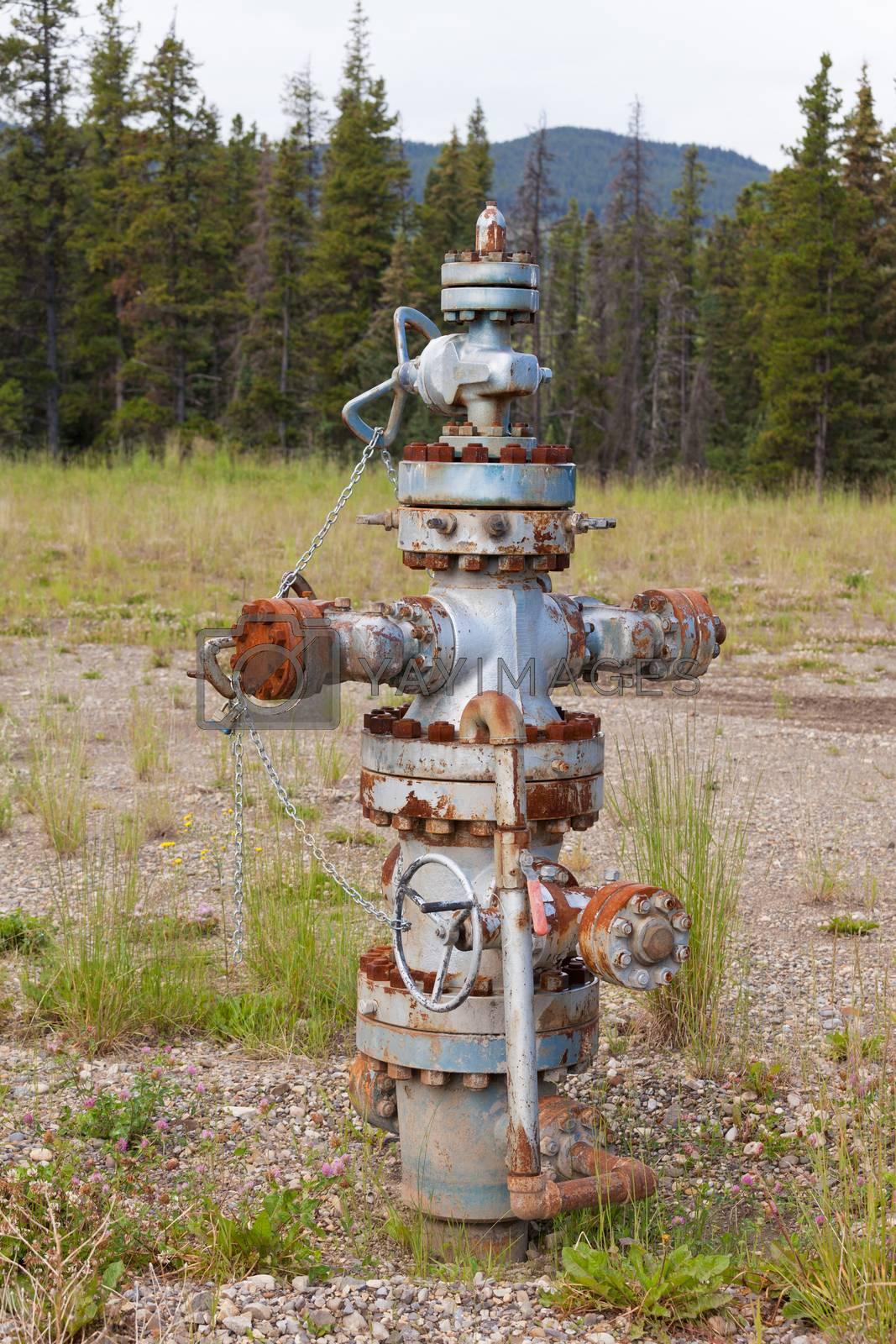 Oil gas industry wellhead flange gear locked shut by PiLens