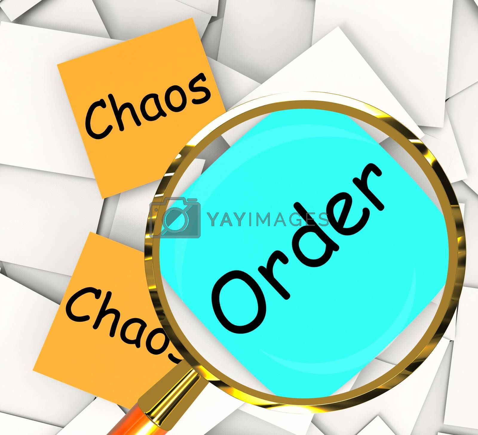 Chaos Order Post-It Papers Show Disorganized Or Ordered by stuartmiles