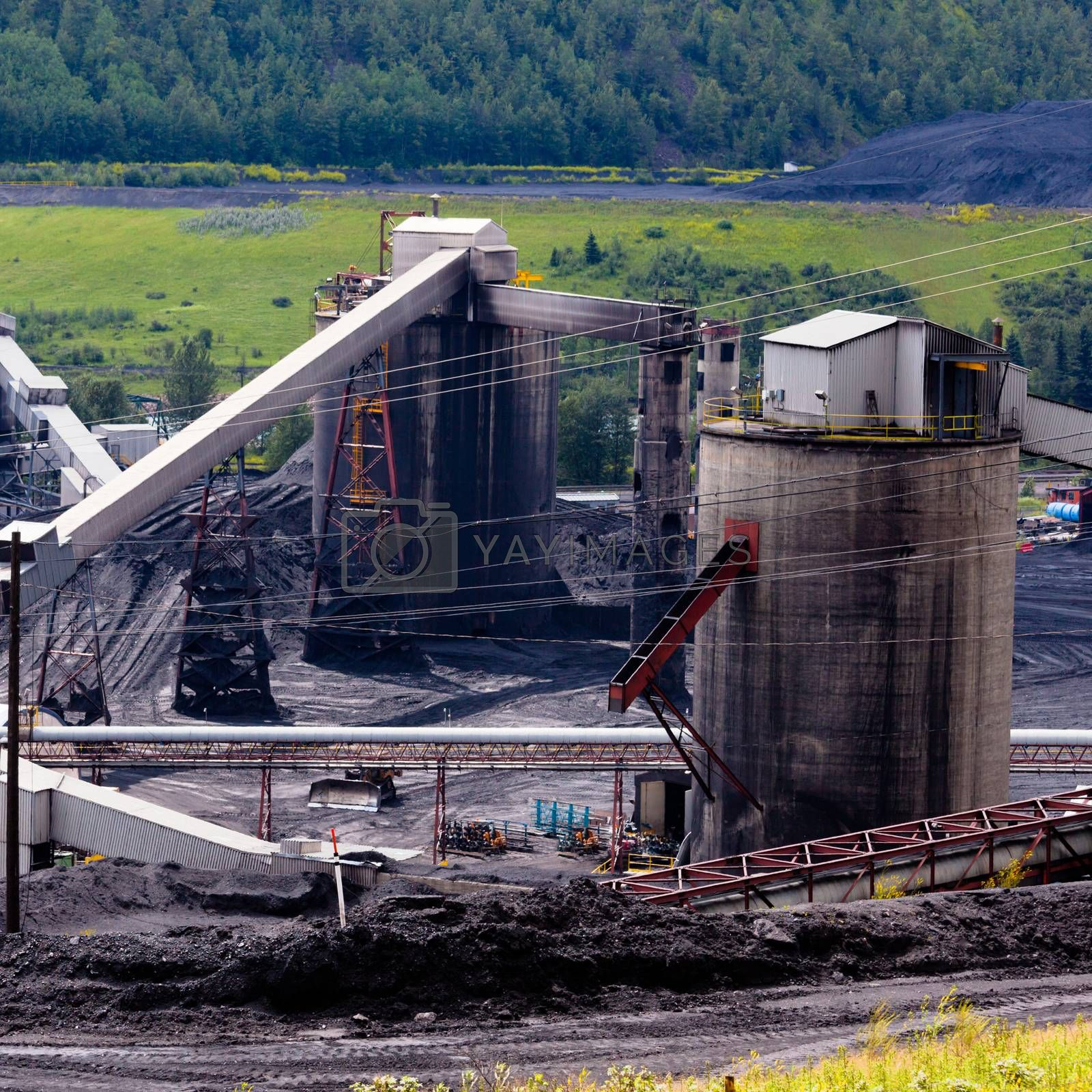 Dirty coal mine structures fossil energy resource by PiLens
