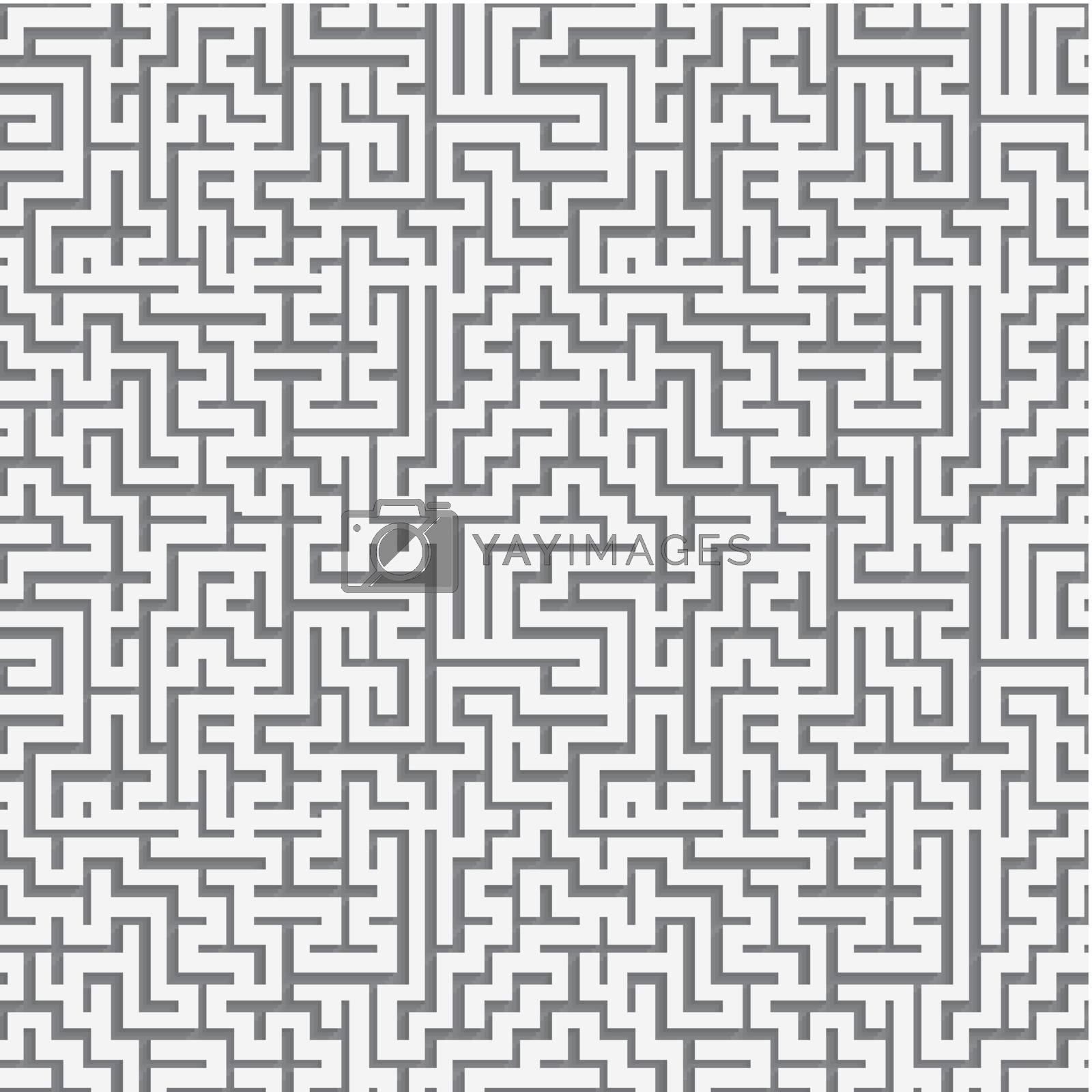Maze ornament paper cut out seamless by Zebra-Finch