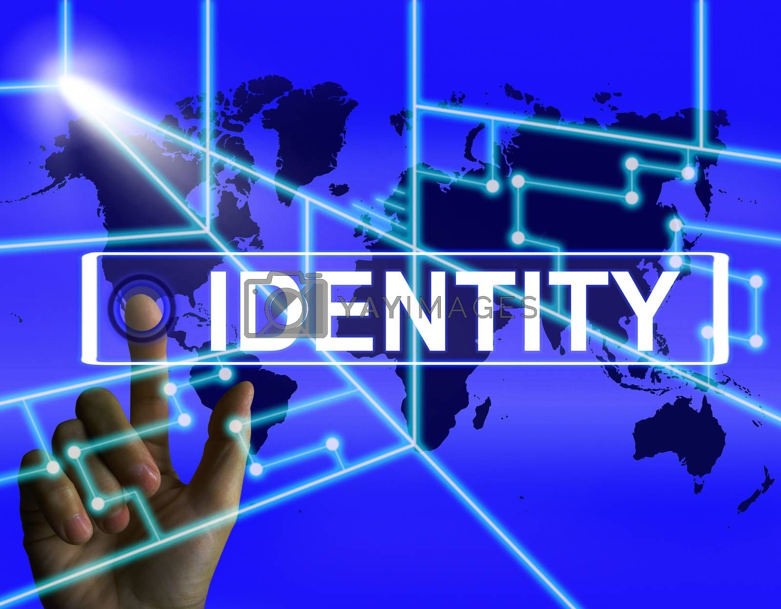 Identity Screen Represents Worldwide or International Identifica by stuartmiles