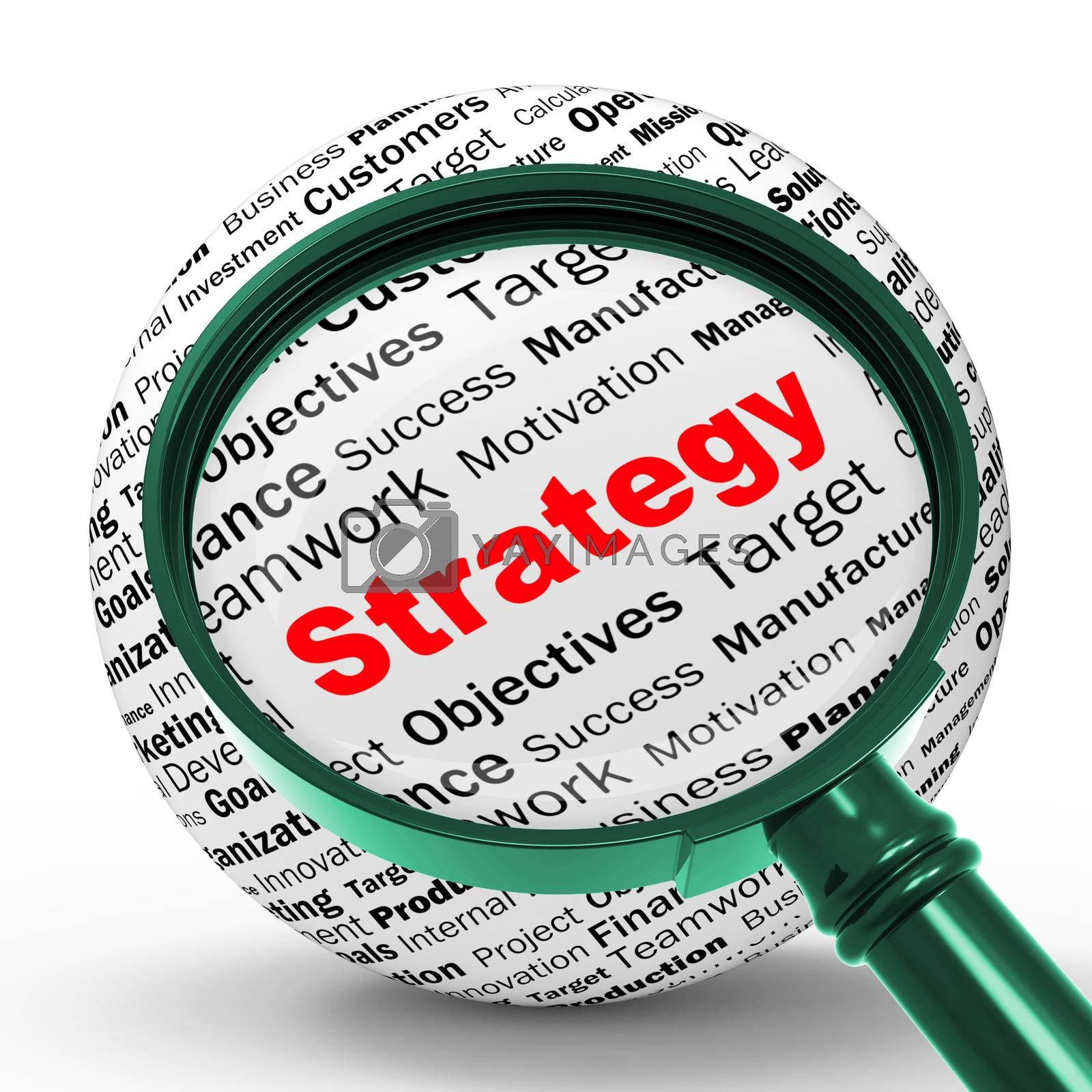 Strategy Magnifier Definition Shows Successful Planning Or Manag by stuartmiles