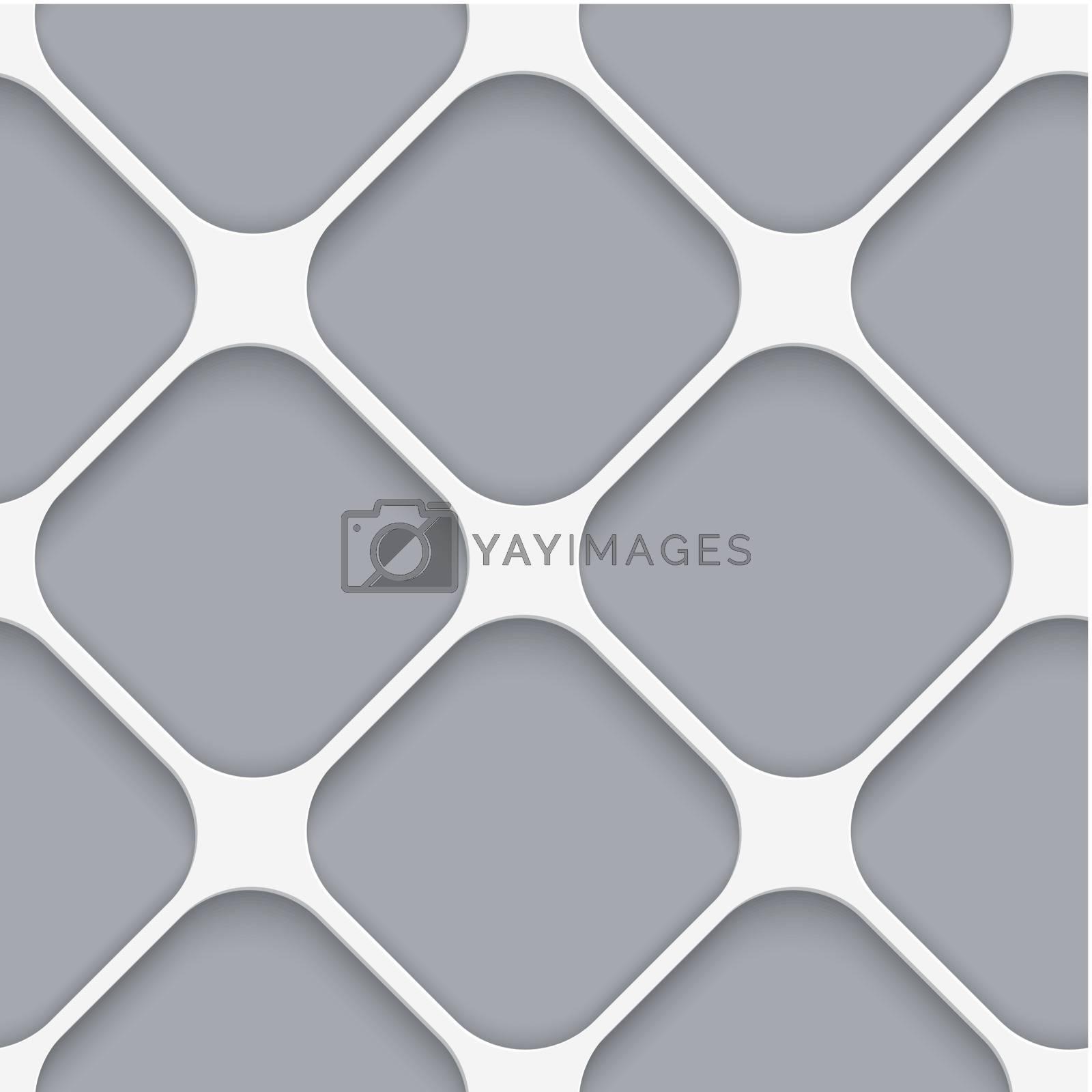 Seamless white diagonal wide square by Zebra-Finch