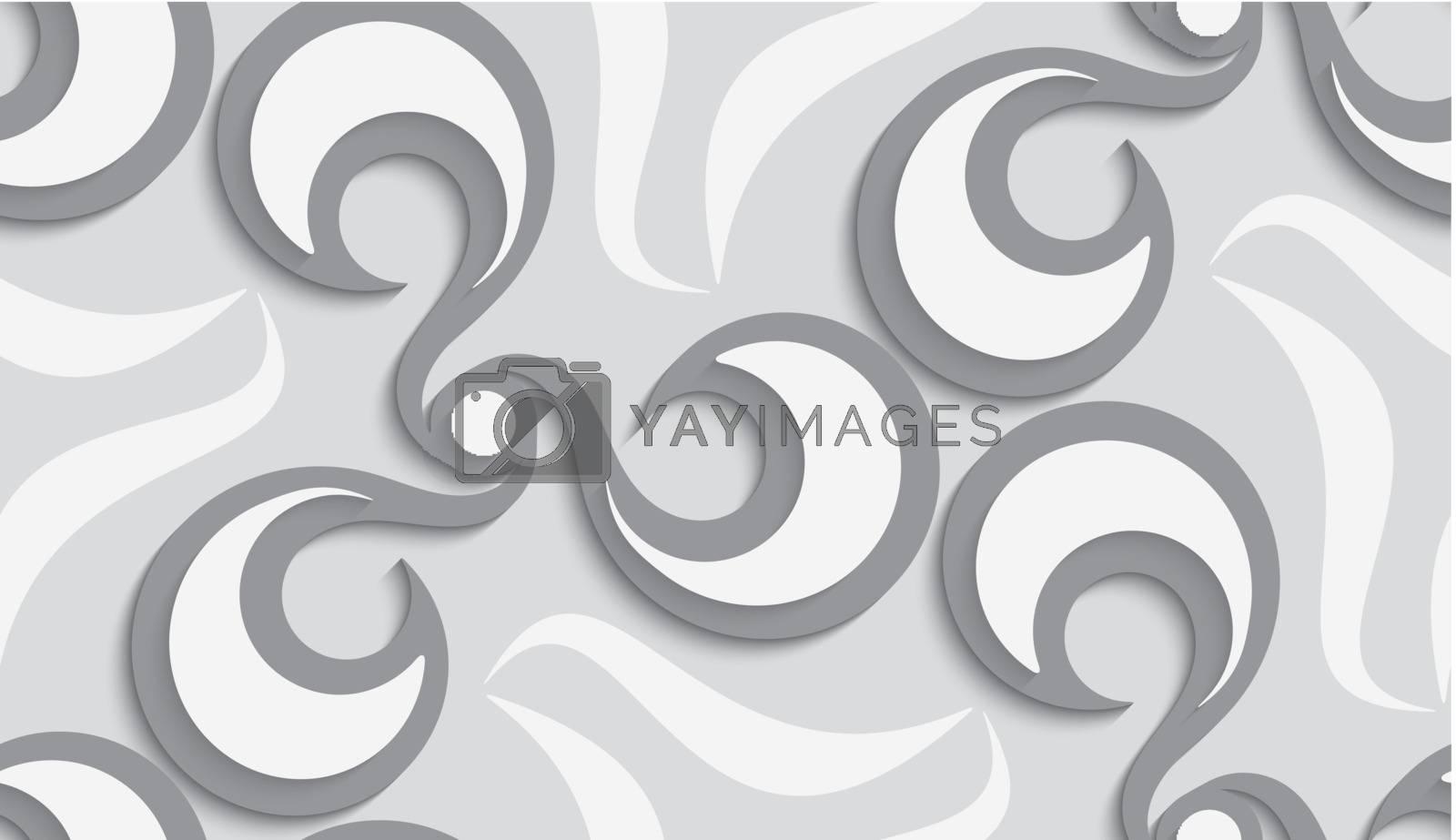 Seamless floral swirls by Zebra-Finch