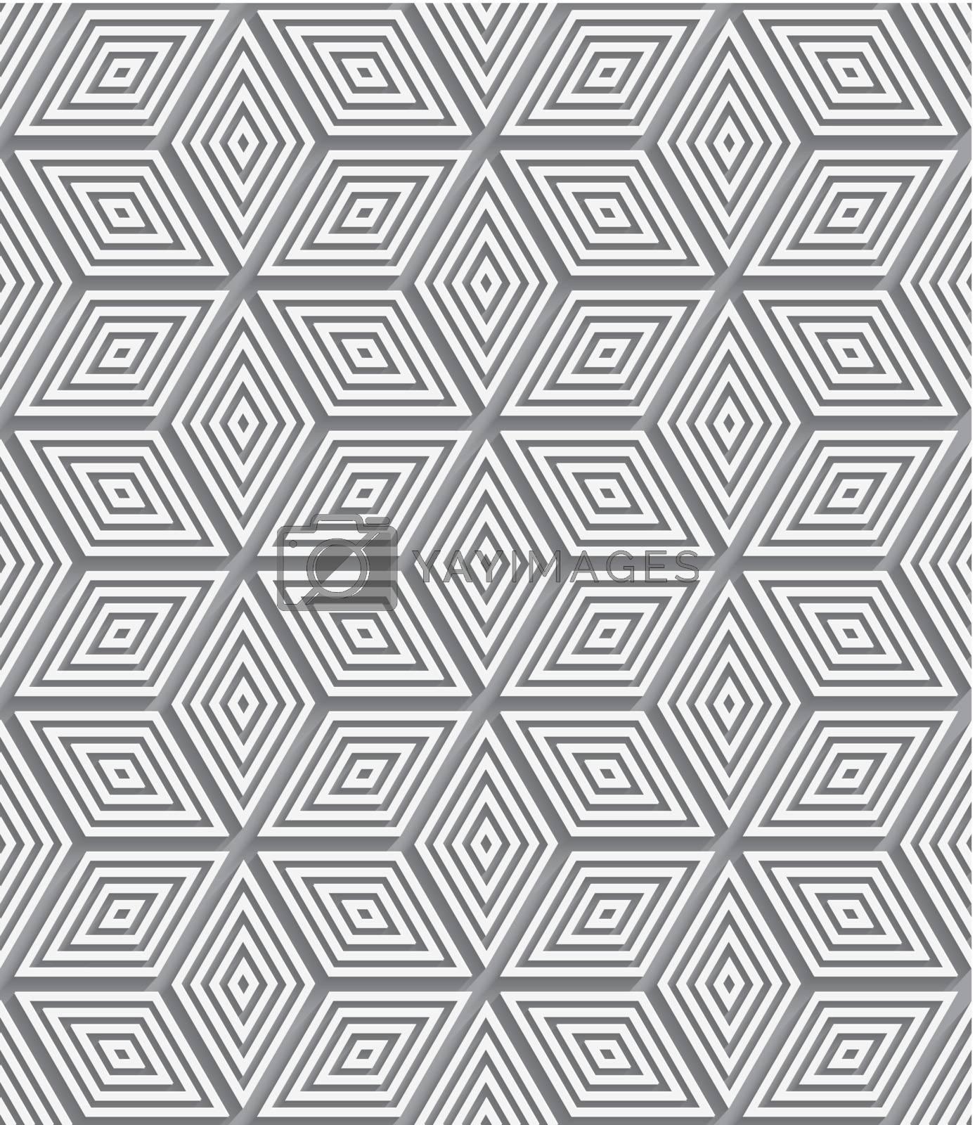 3d ornament paper cut out seamless by Zebra-Finch