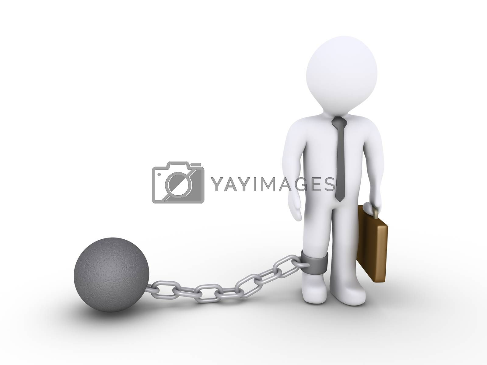 Businessman with a chain ball by 6kor3dos
