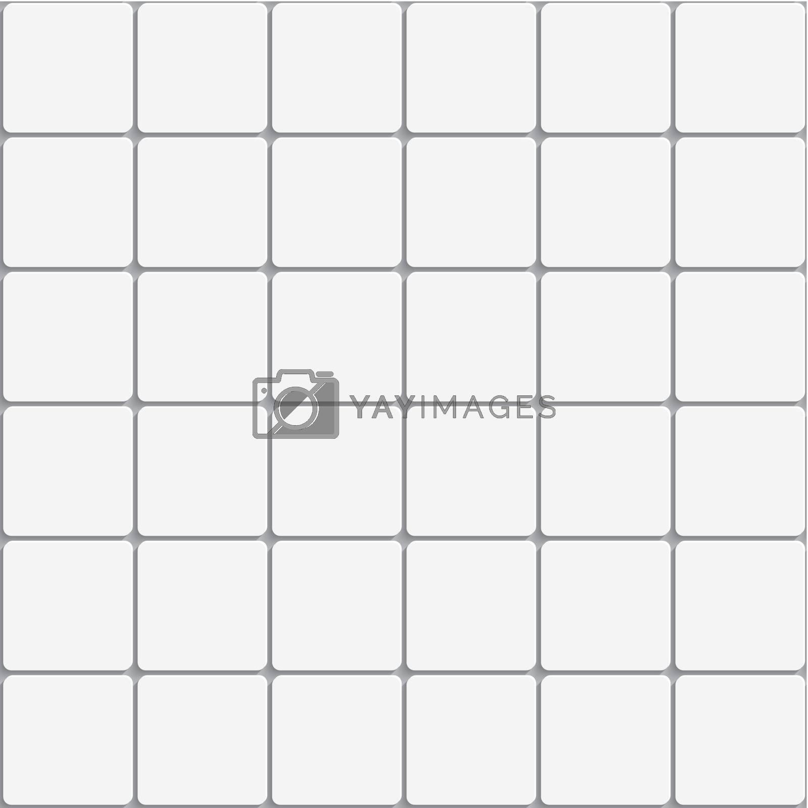 Seamless white square ceramic tiles background by Zebra-Finch