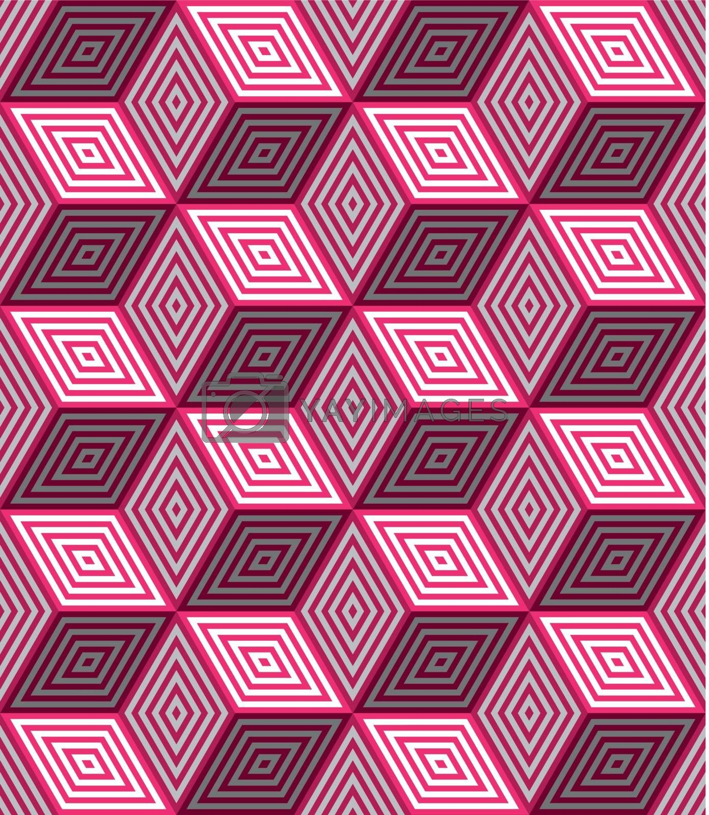 3d pink cubes with ornament seamless by Zebra-Finch