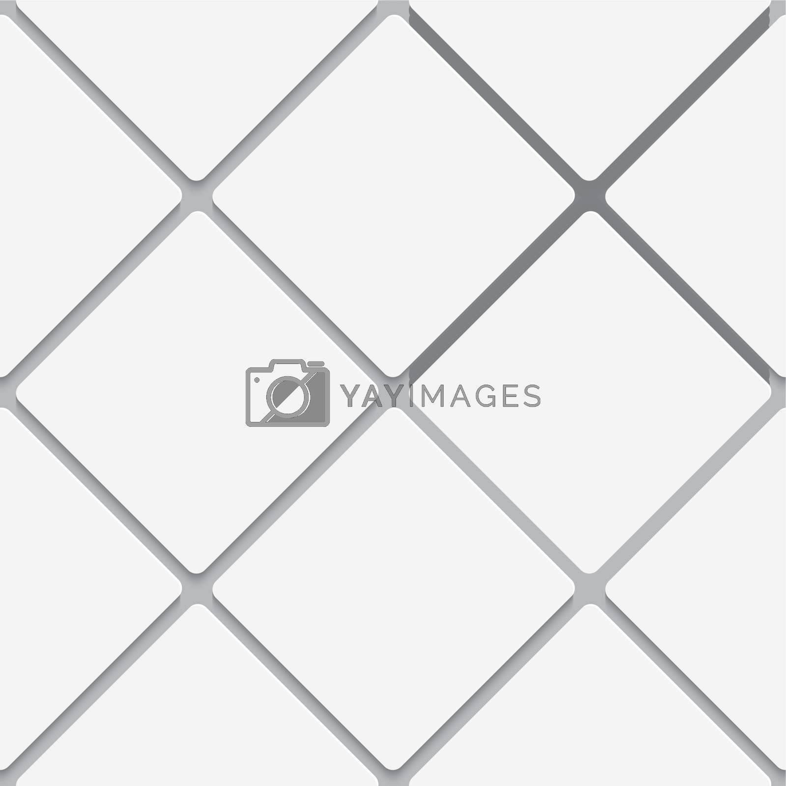 Seamless white diagonal square tiles by Zebra-Finch