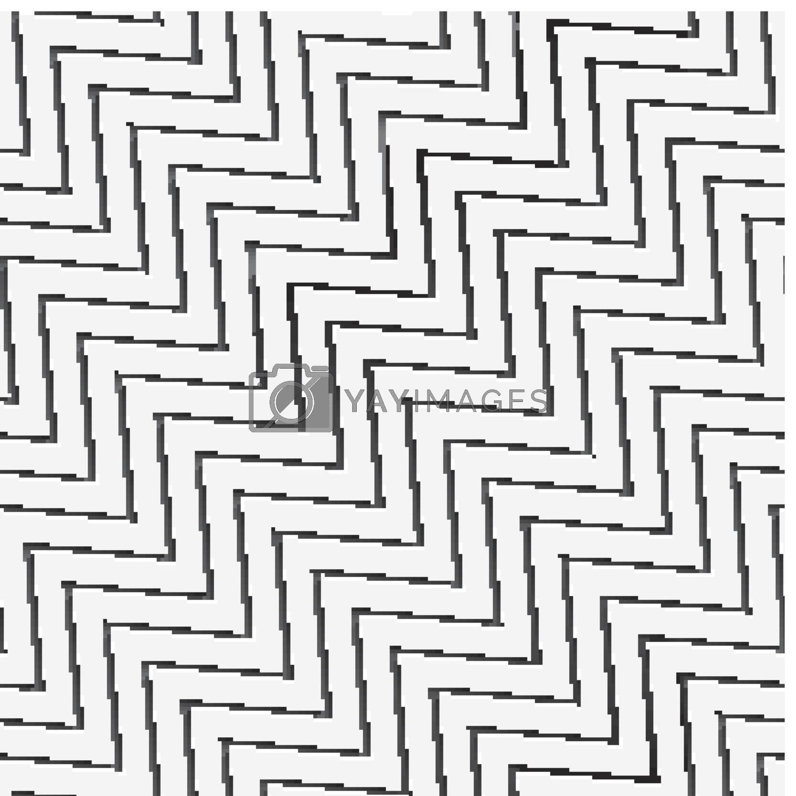 Seamless zigzag wide with long shadow by Zebra-Finch