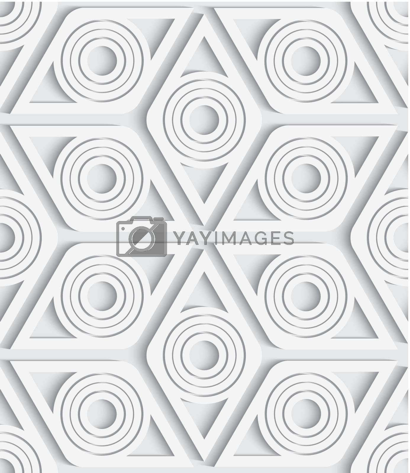 Geometrical rhombus seamless pattern cut out by Zebra-Finch